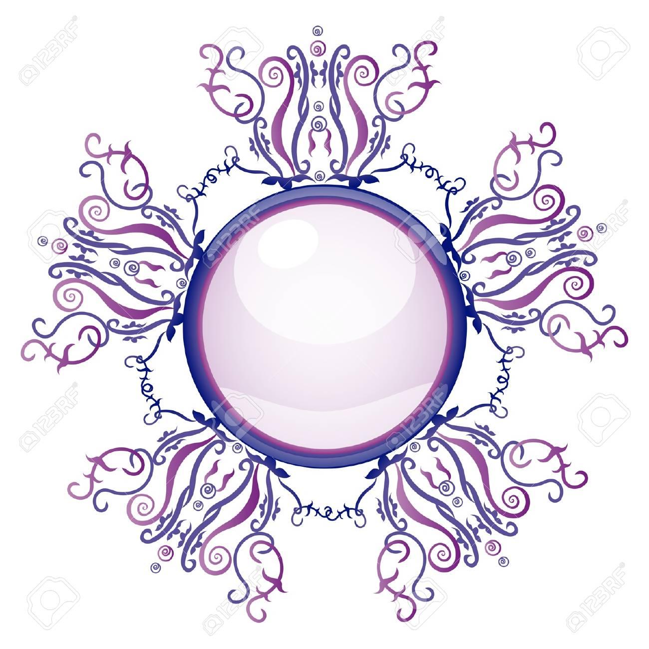 Violet and blue brooch. Illustration 10 version Stock Vector - 18183449