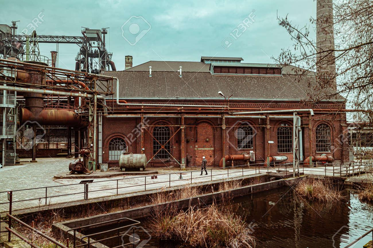 Landscape park Duisburg Nord industrial culture Germany Ruhr area - 145355344
