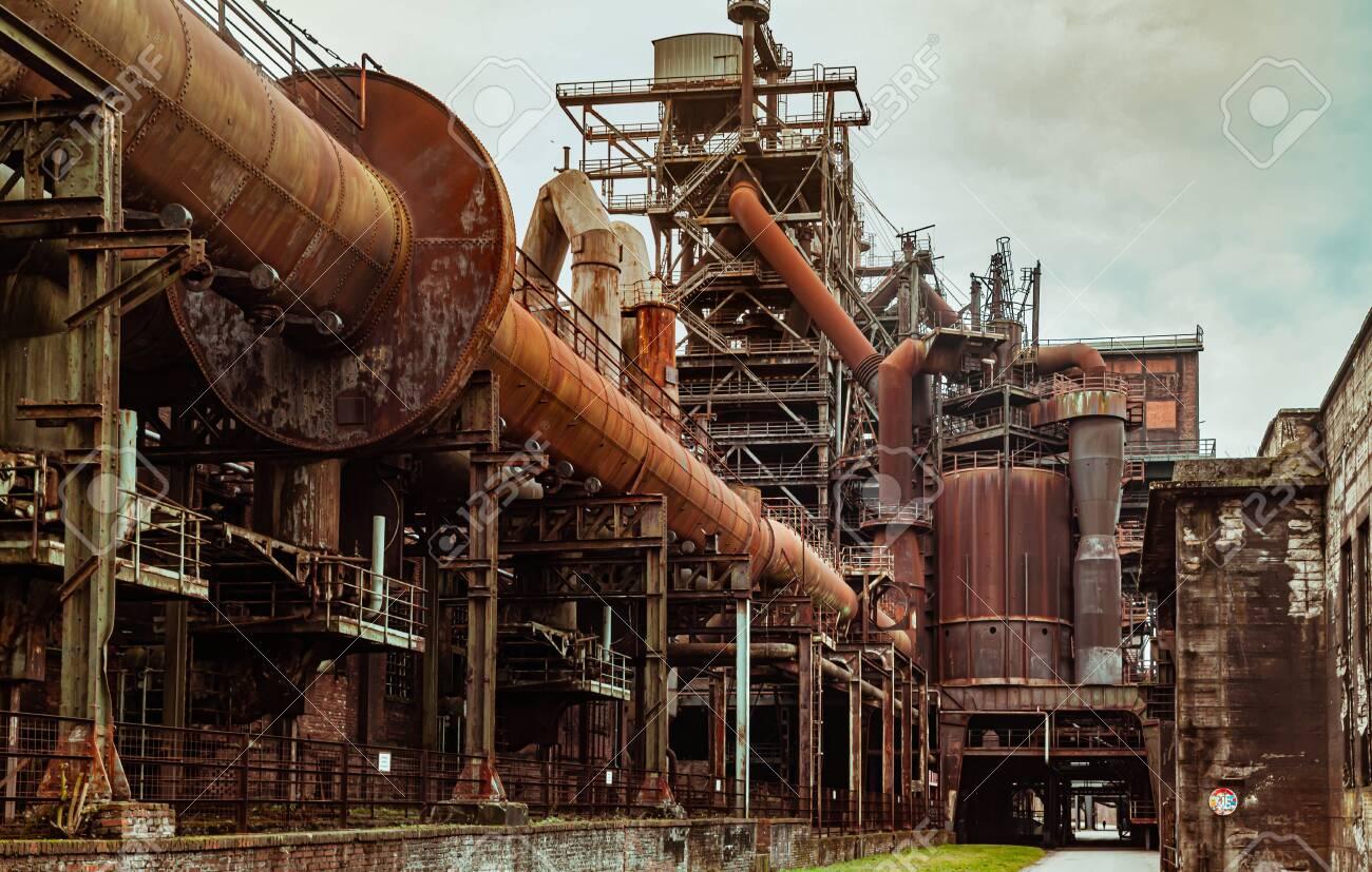 Landscape park Duisburg Nord industrial culture Germany Ruhr area - 145355350