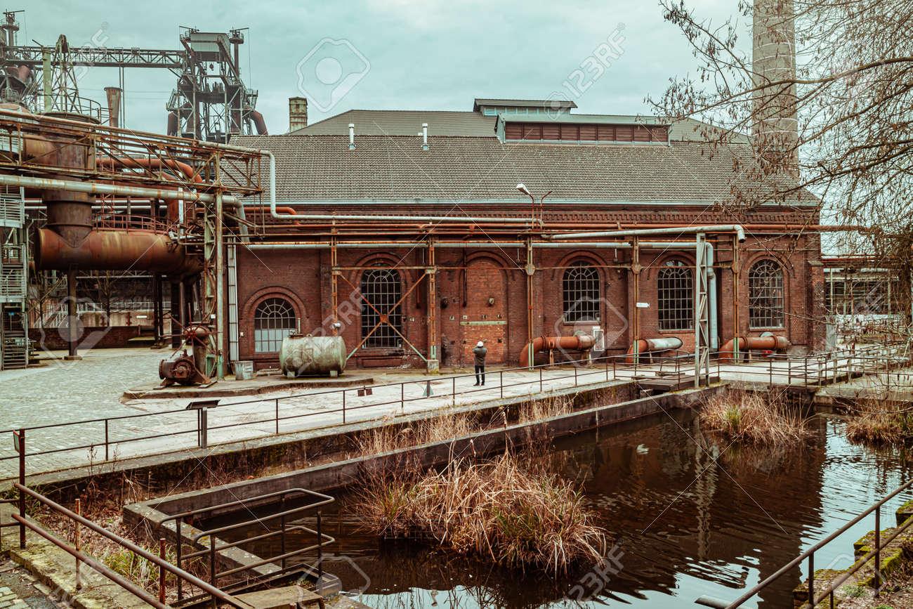 Landscape park Duisburg Nord industrial culture Germany Ruhr area - 145355367