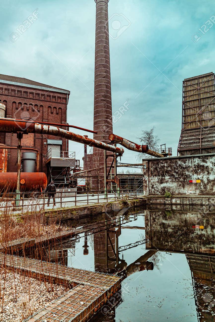 Landscape park Duisburg Nord industrial culture Germany Ruhr area - 145355378