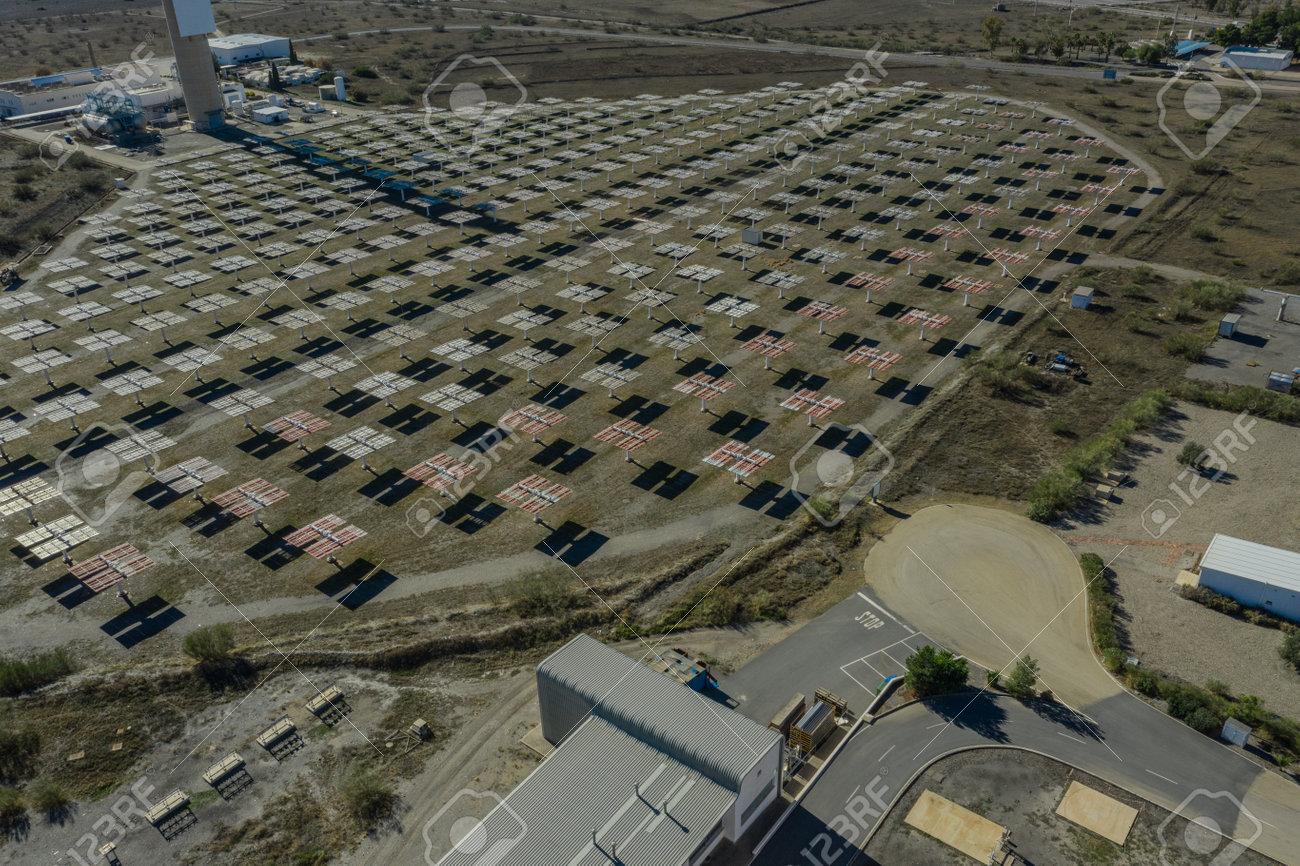 Drone aerial photography of the Plataforma Solar de Almería Center for research into solar energy use - 165012390
