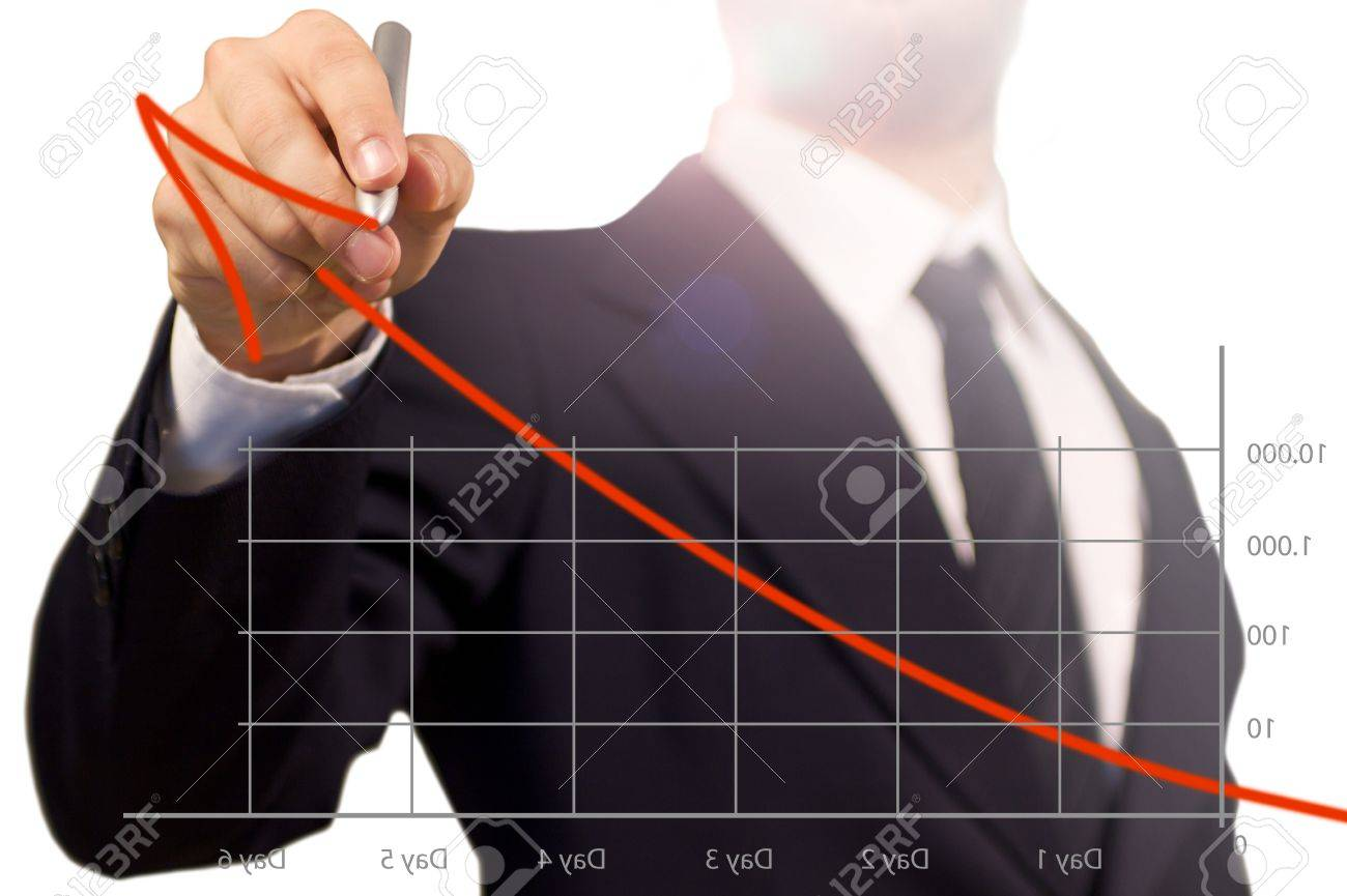 Businessman have a have a conferenze illustrating the success of his works in a bunch of days with a diagram. the way for the Top. Stock Photo - 14787721