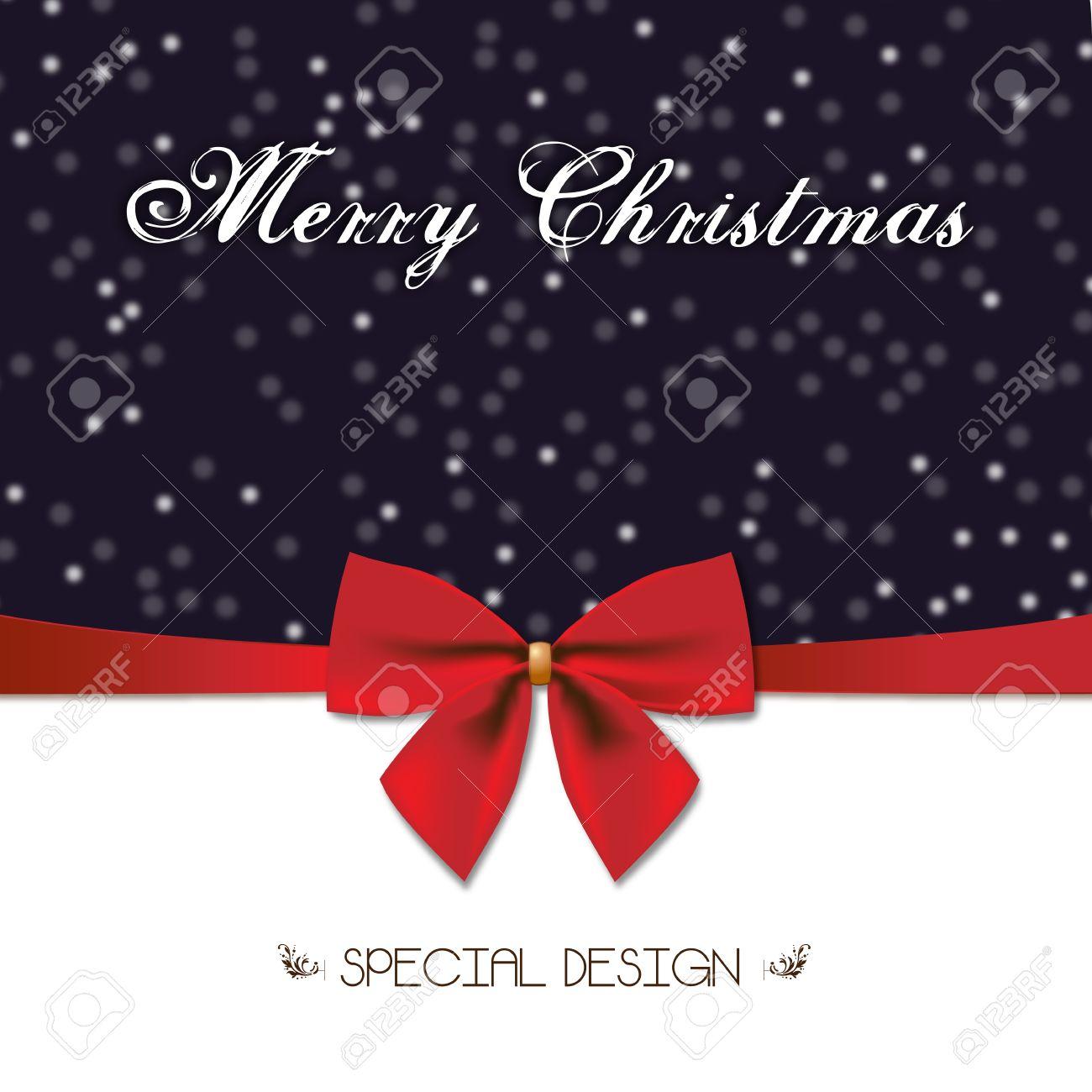 Buon Natale Particolare.Vettoriale Buon Natale Design Particolare E Red Bow Decorazione