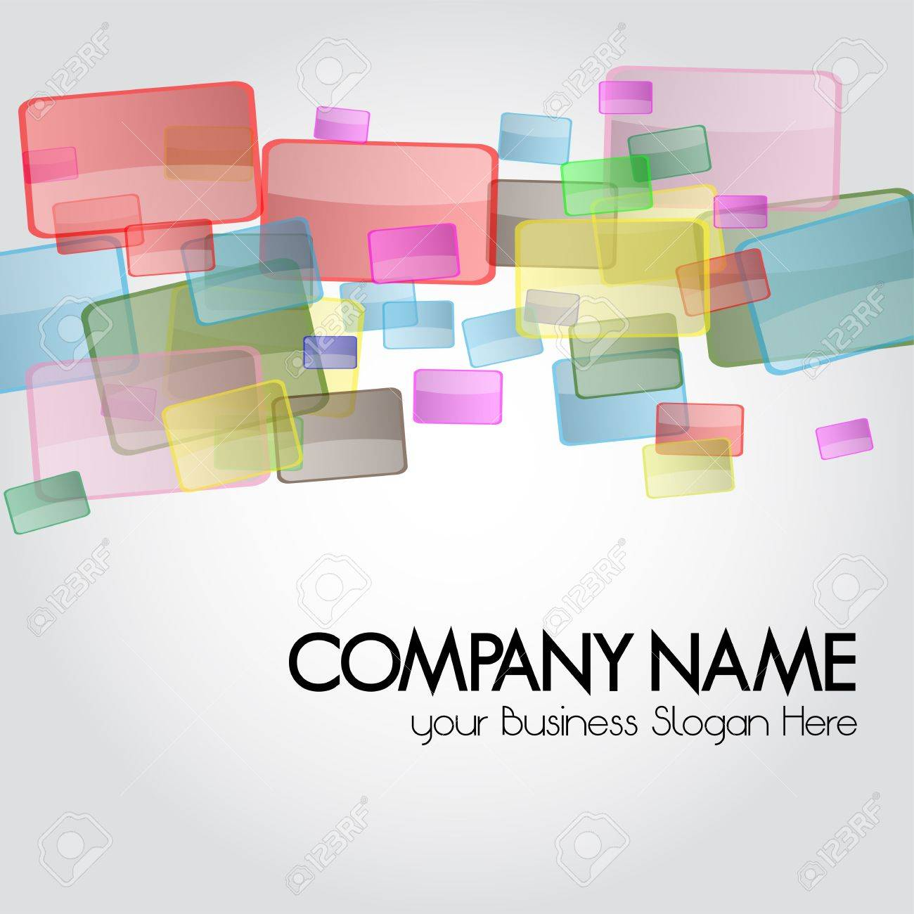 Business card or Design Background for stationary  A business multicolored background for the Contemporary Company Design, perfect for stationary Stock Vector - 16726712