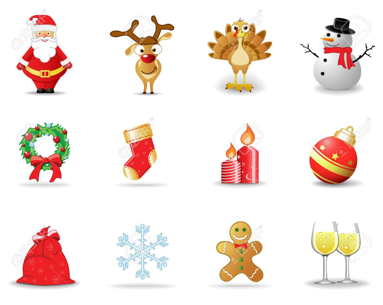 Christmas icons, part 1 Stock Vector - 6029533