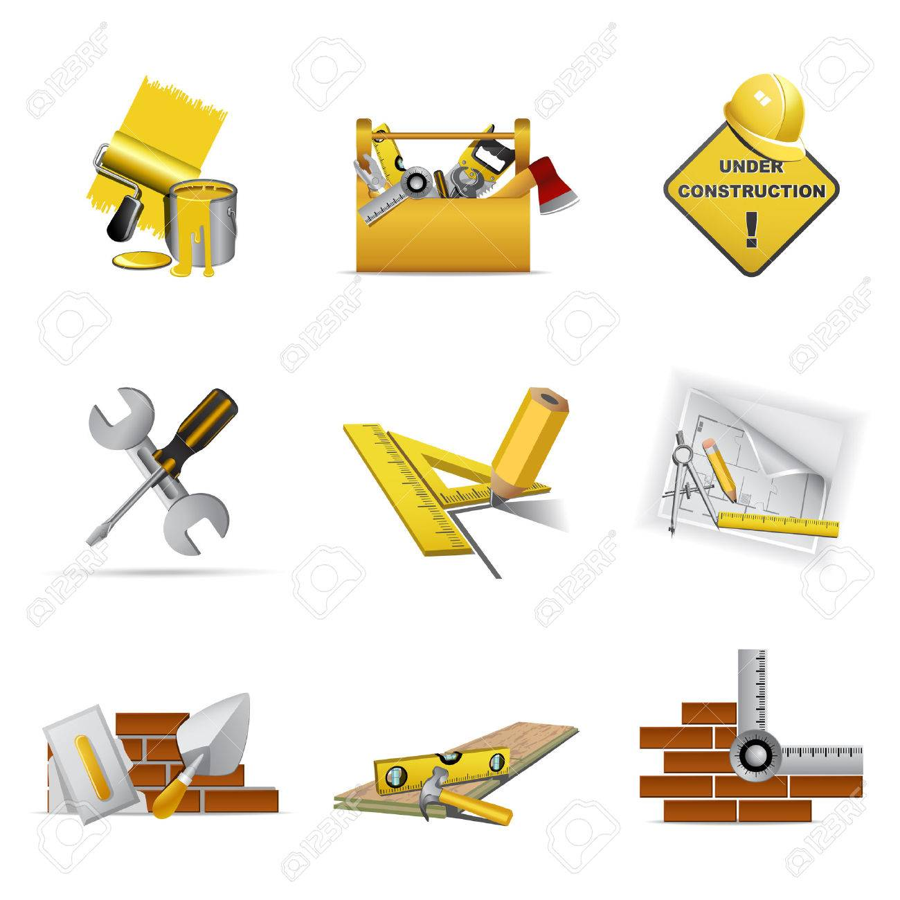 Construction tools, part 1 Stock Vector - 6113241