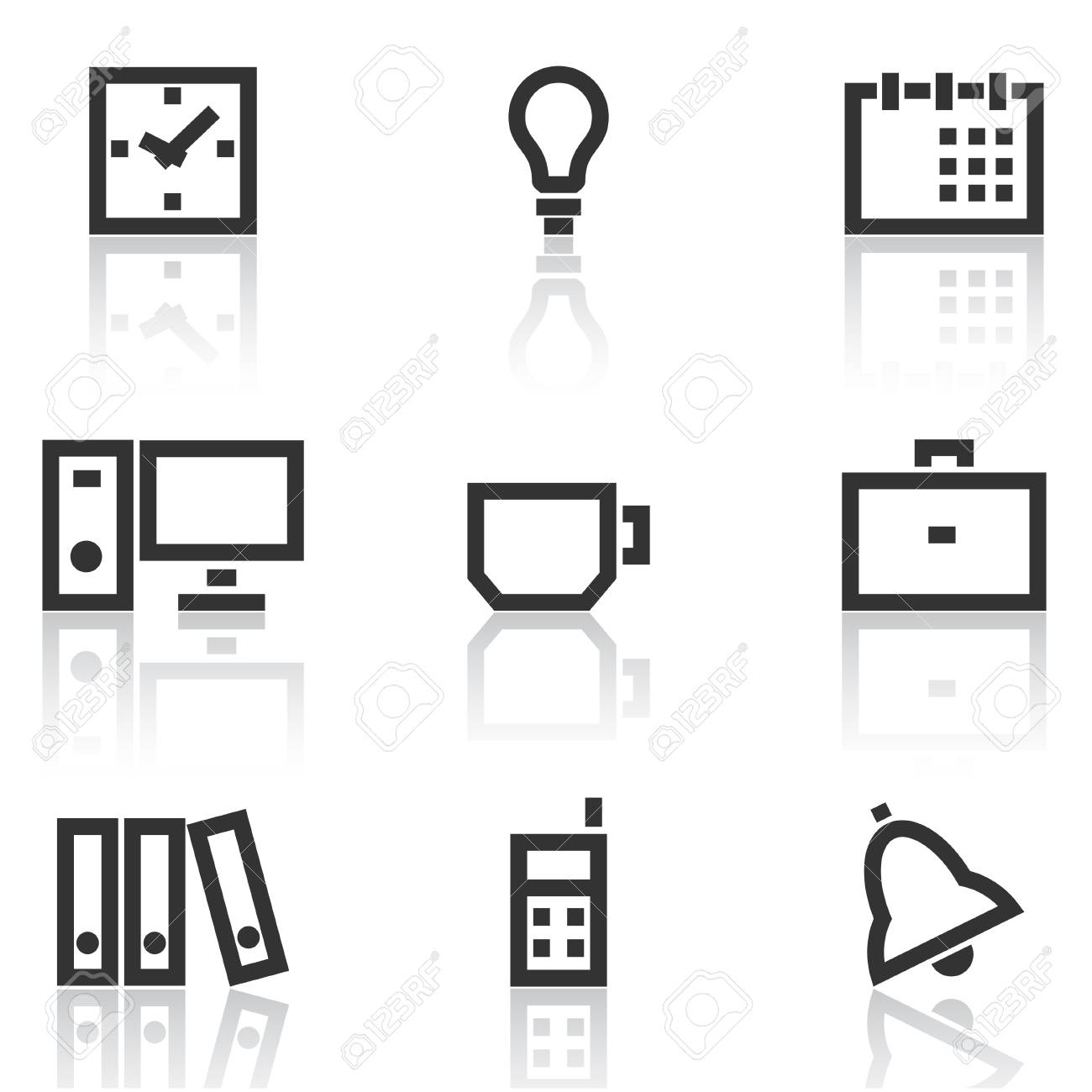 Office icons simple series Stock Vector - 6113236
