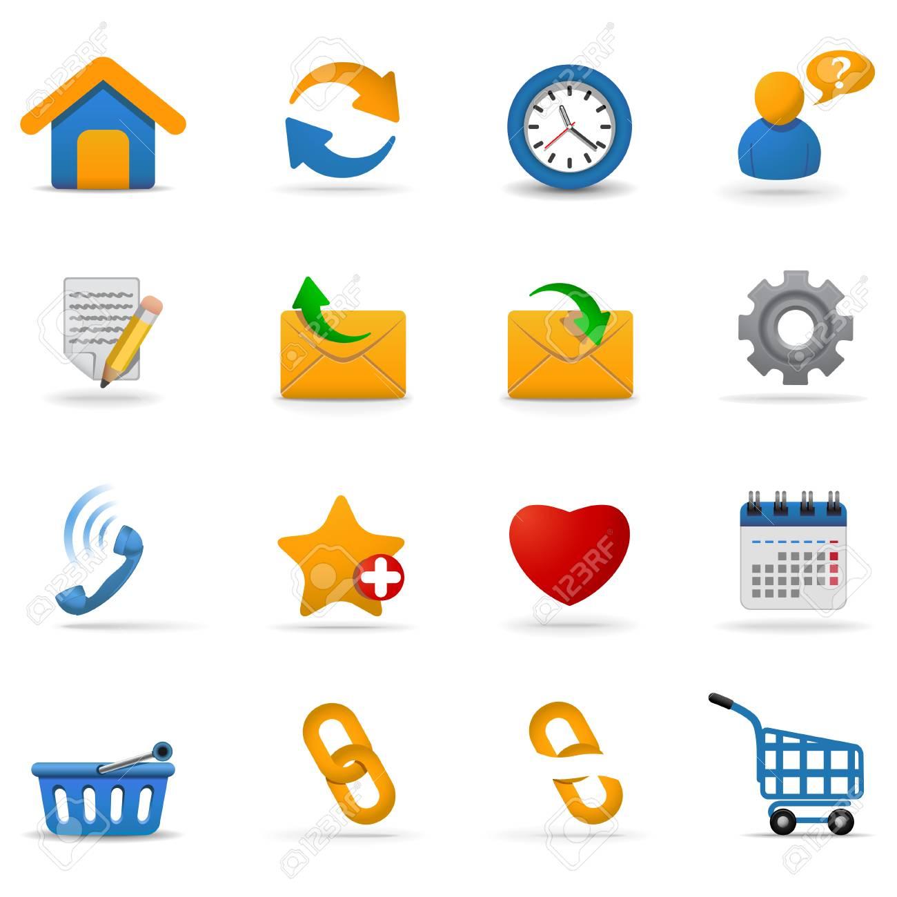 Web icons set   Joy series. Part 1 Stock Vector - 6133444