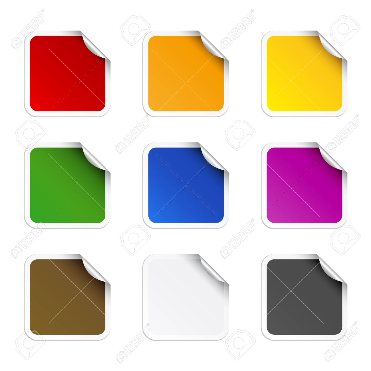 Square stikers Stock Vector - 6242185