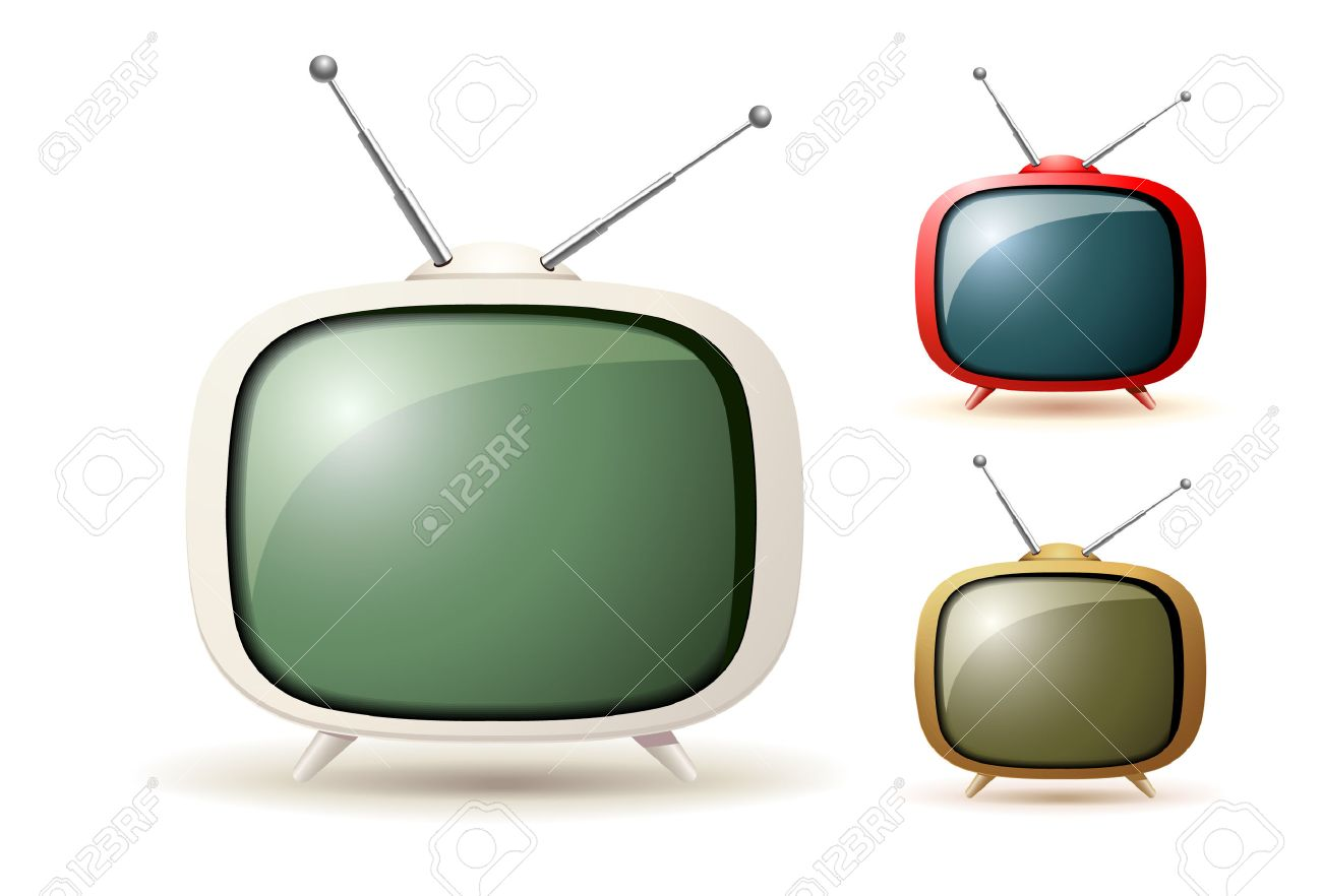 Cute old Tv Stock Vector - 8073622