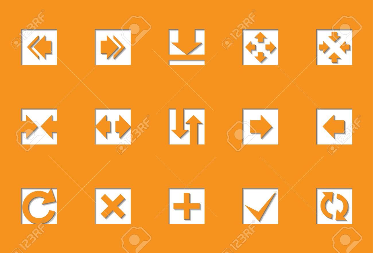 Arrows   Die Cut series Stock Vector - 8499052