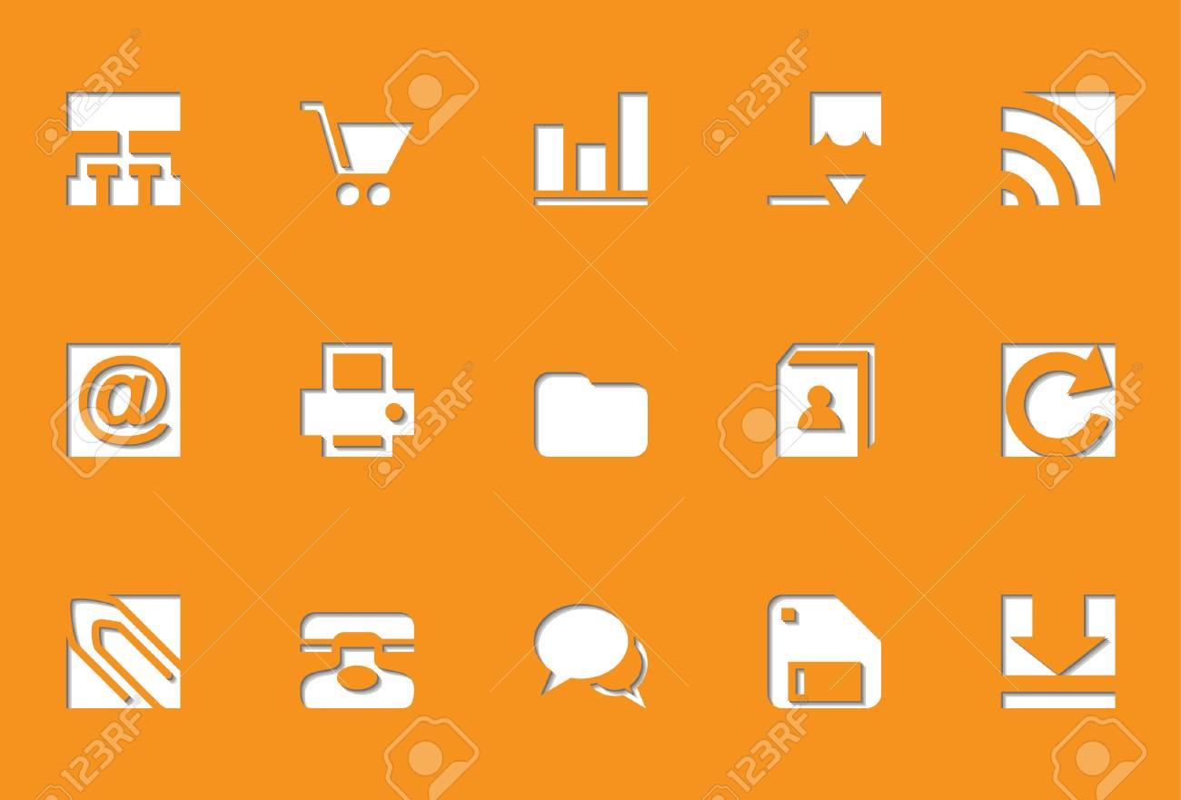 Web icons   Die Cut series Stock Vector - 8499049