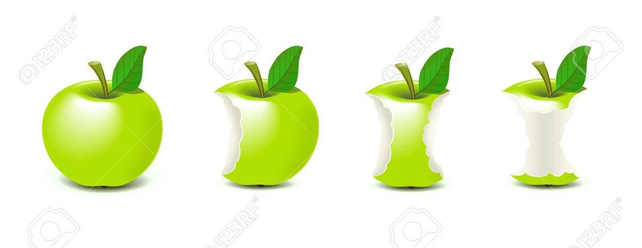 Bitten apple Stock Vector - 10337625