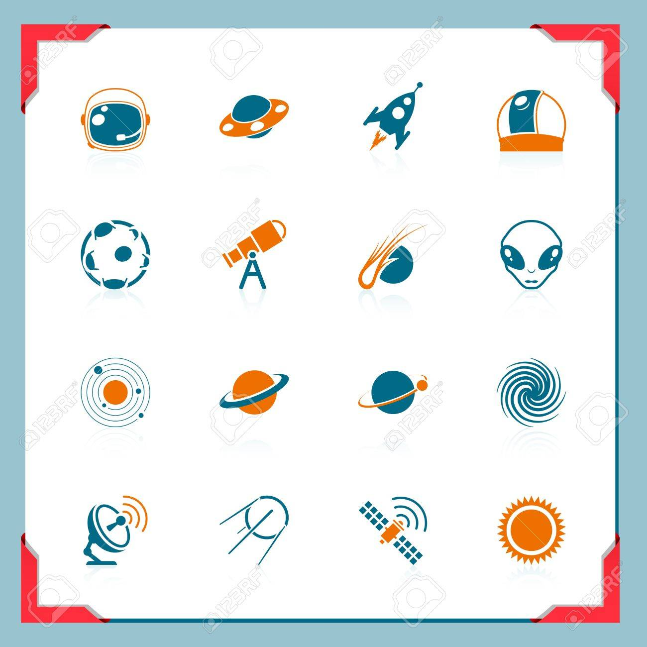 Space icons | In a frame series Stock Vector - 11662199