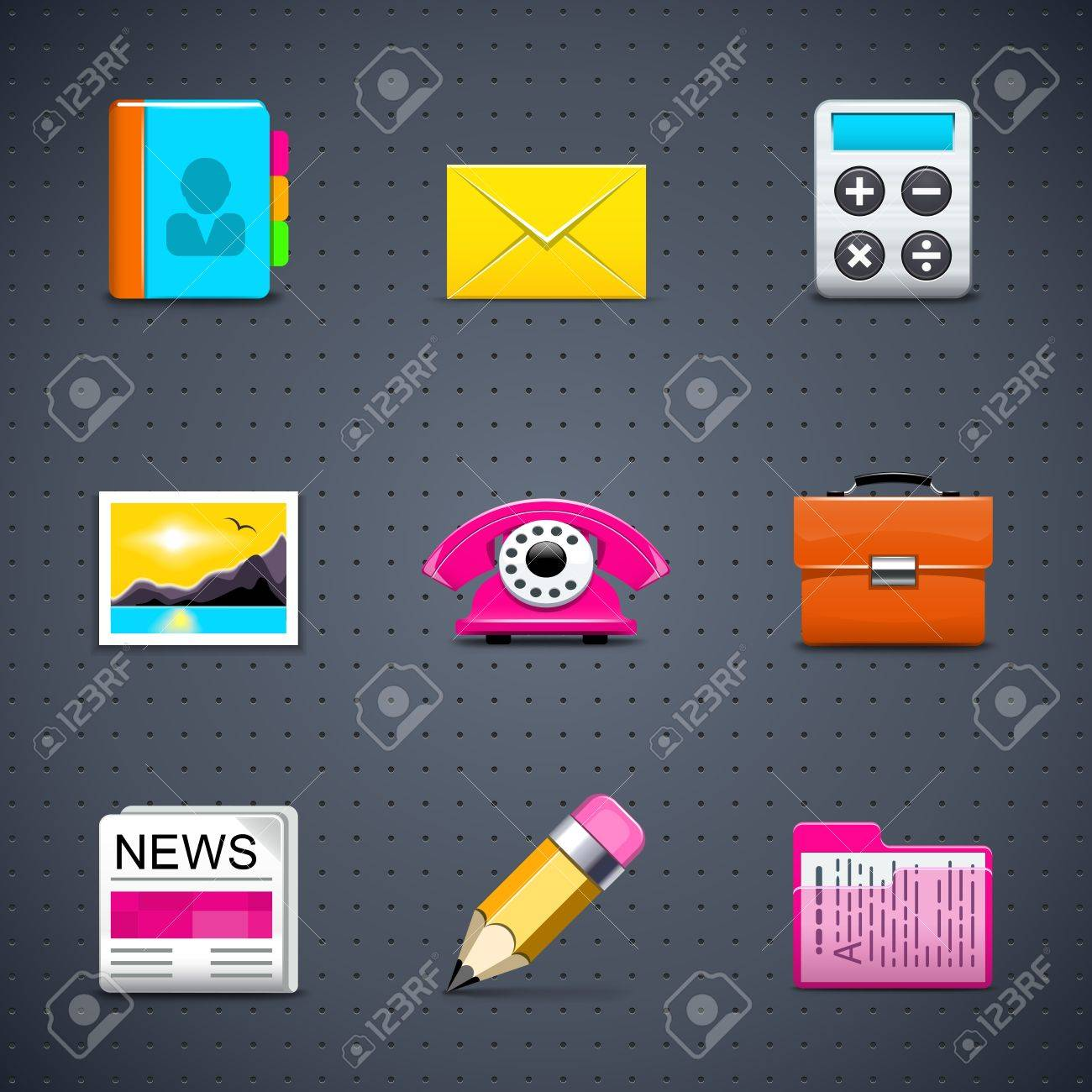 Web icons Stock Vector - 11662209