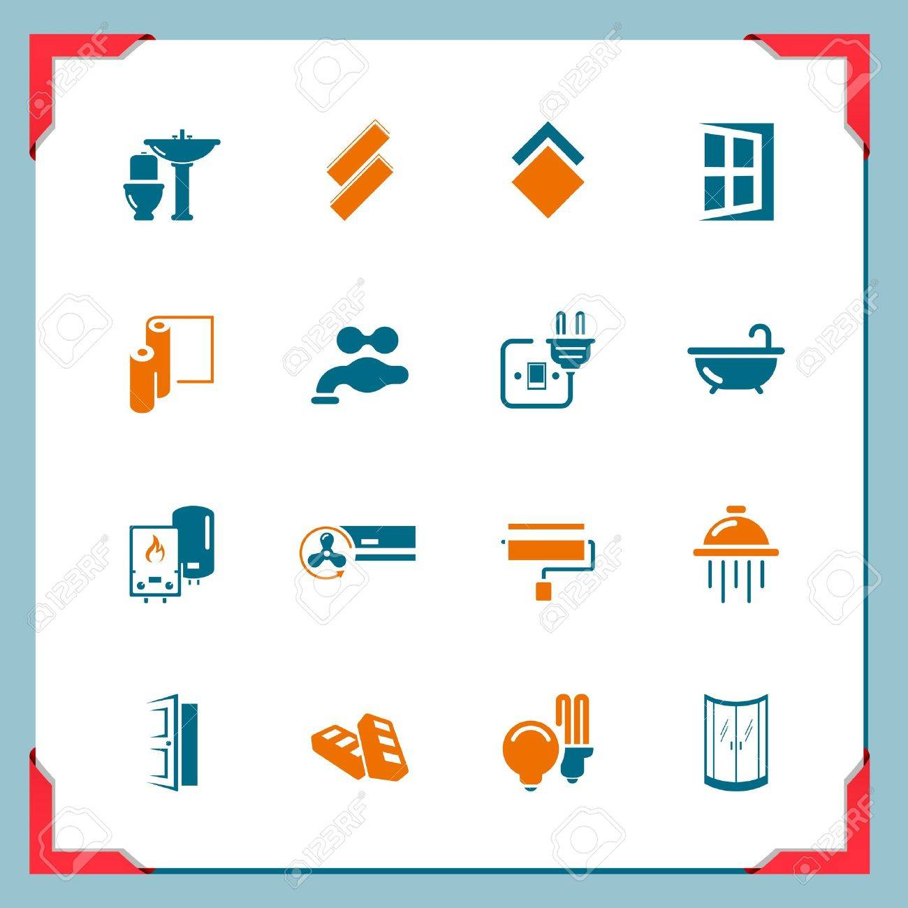 Home renovation icons   In a frame series Stock Vector - 15440561