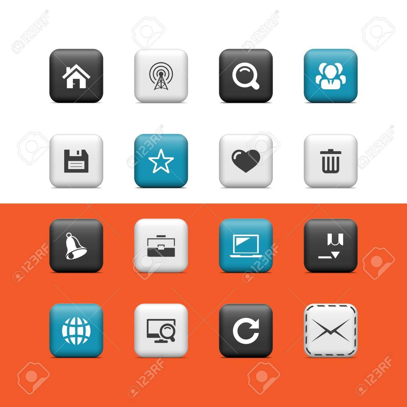 Web buttons Stock Vector - 15445636