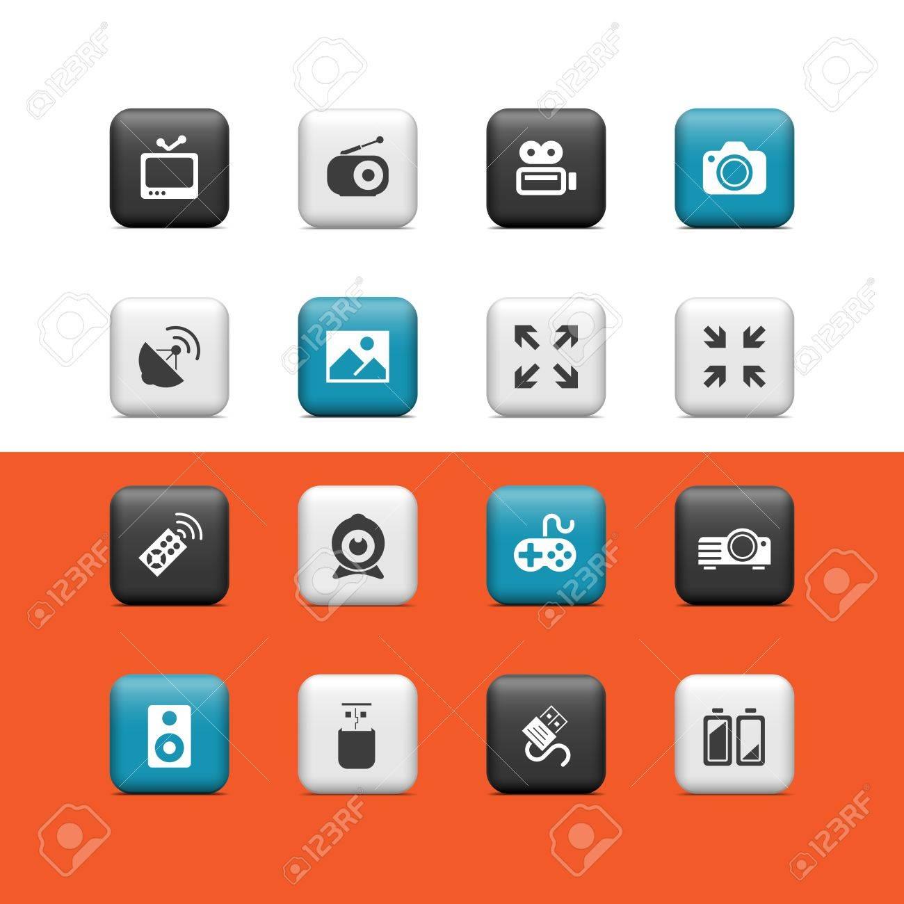 Multimedia buttons Stock Vector - 15445656