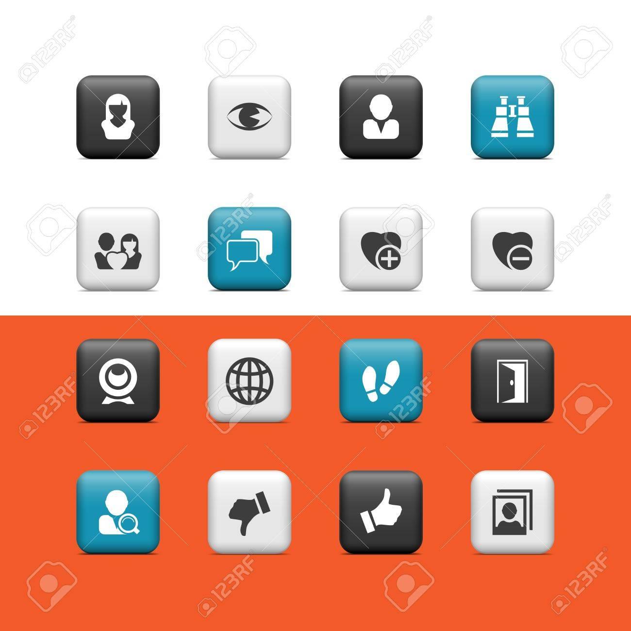 Social buttons Stock Vector - 15445640