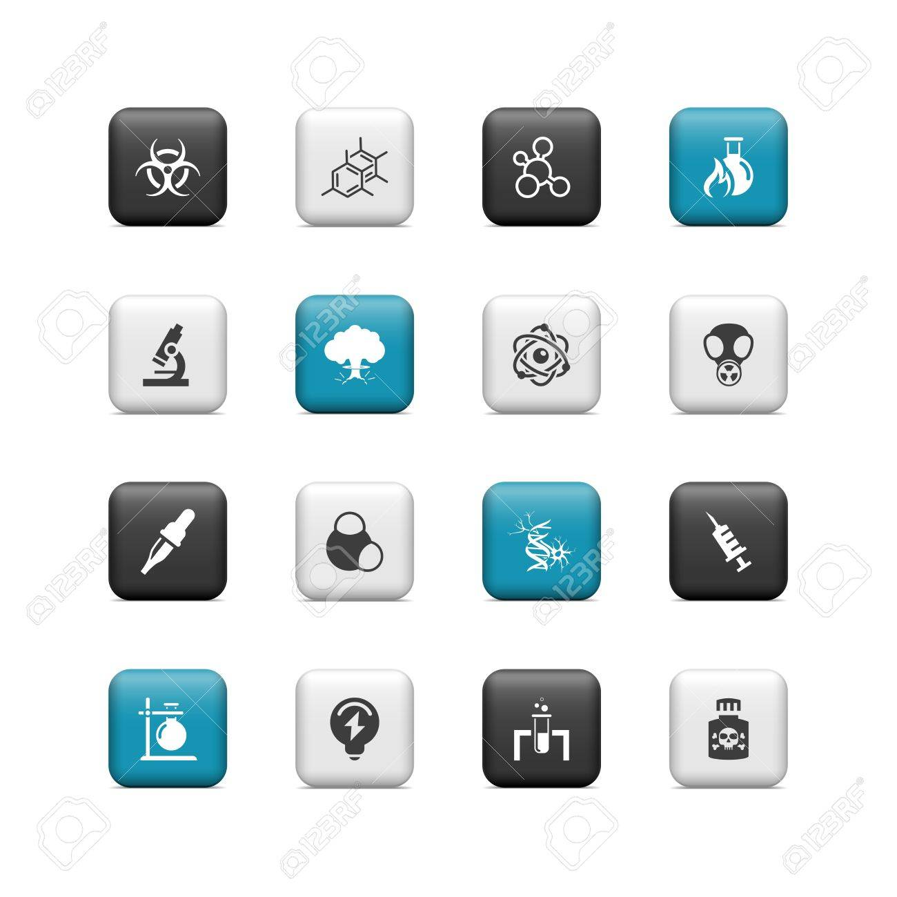 Science buttons Stock Vector - 16657240