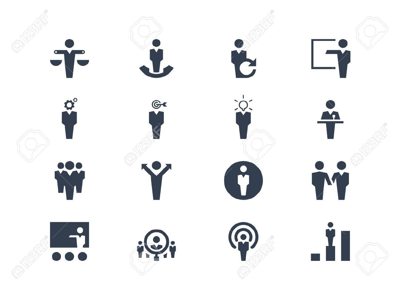 Human resources icons - 20331098