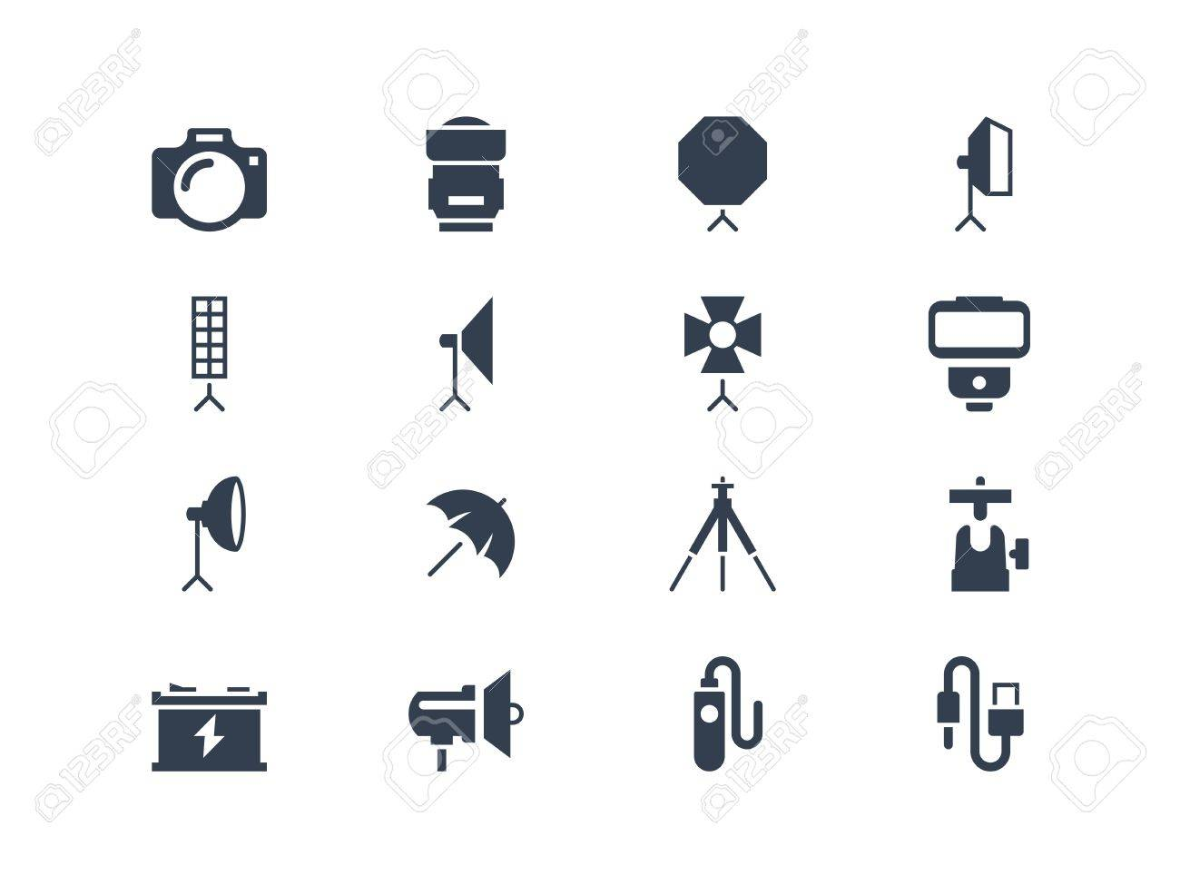 Photography equipment icons Stock Vector - 20322353