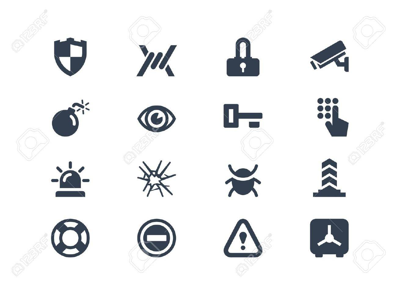 Security icons Stock Vector - 20331107