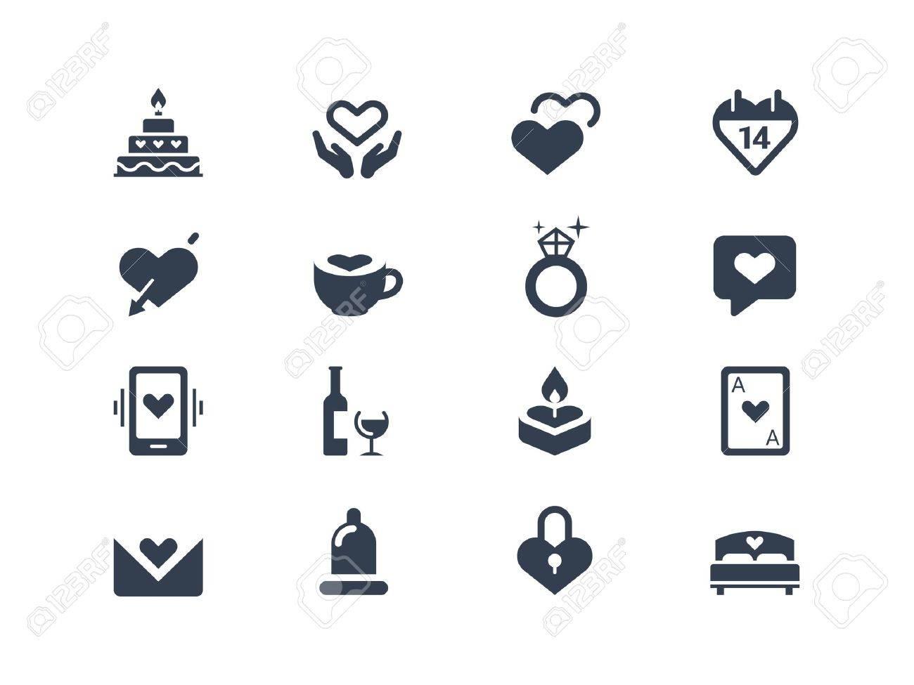 Valentine icons Stock Vector - 20331120