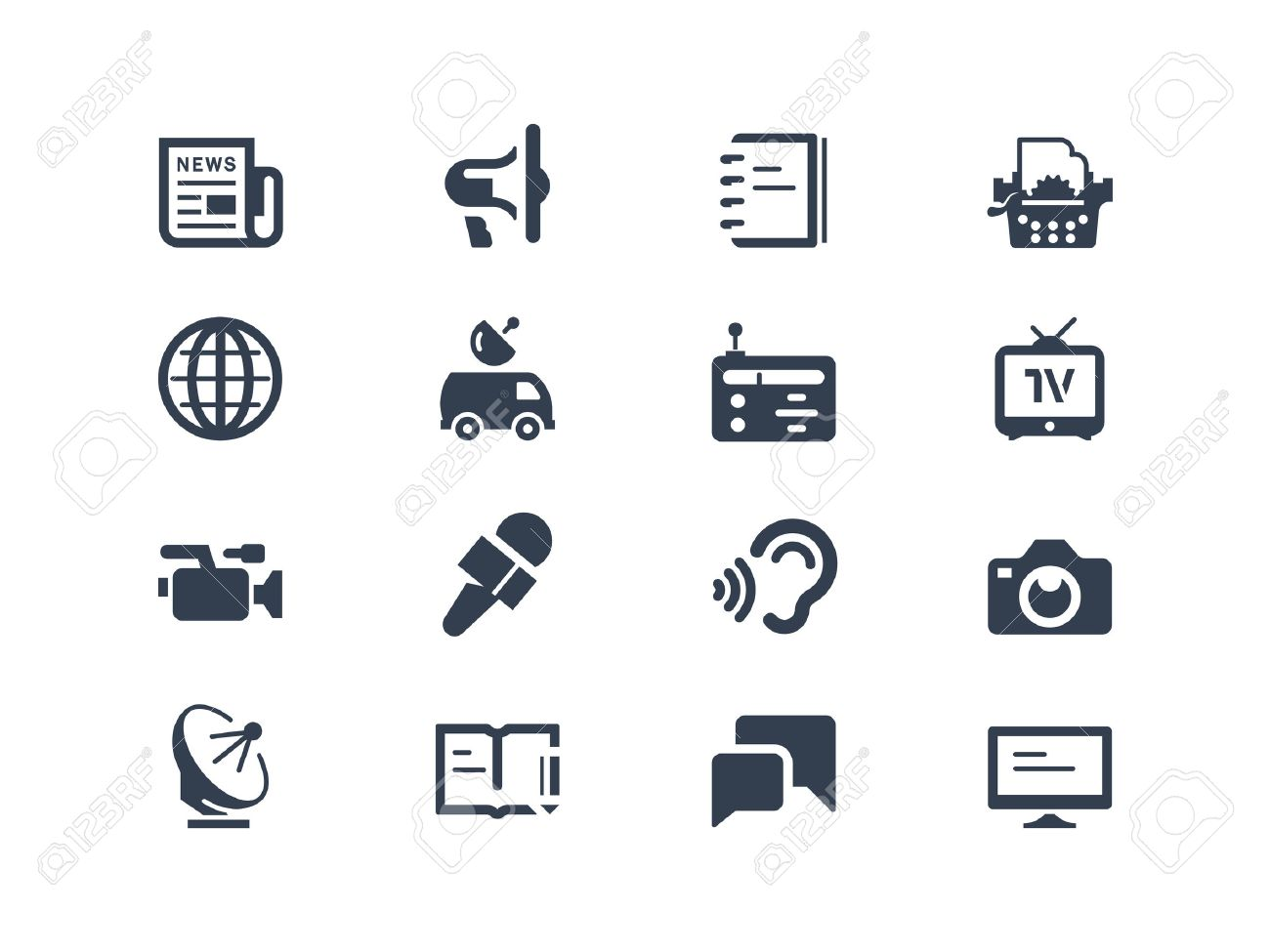 Journalism and press icons Stock Vector - 23755169