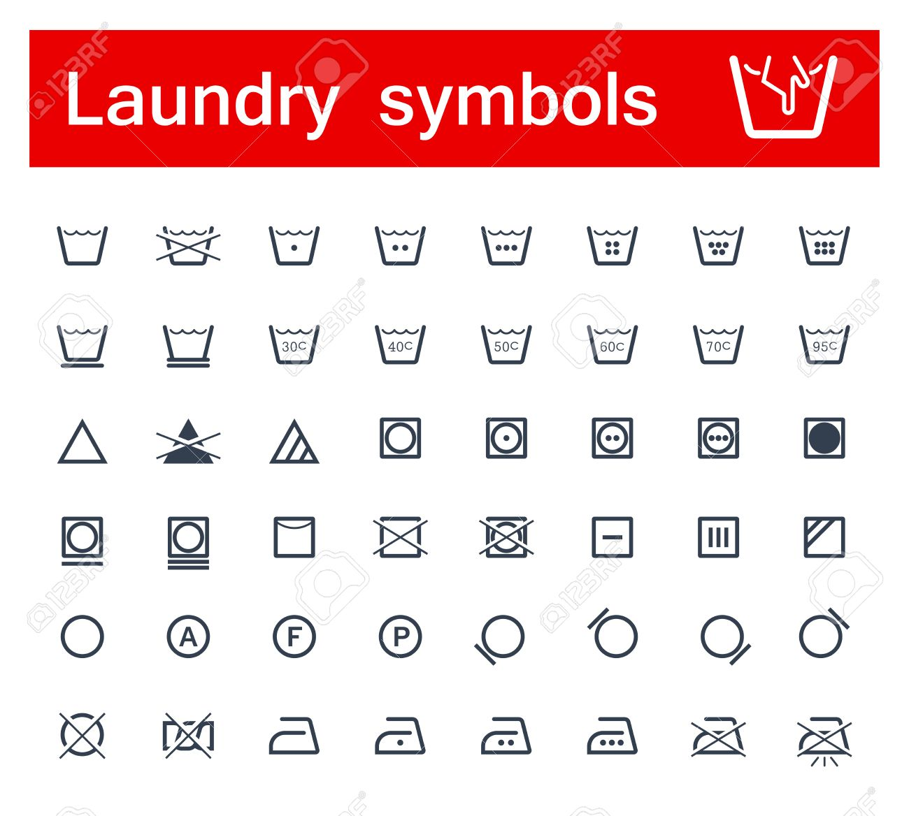 Laundry Symbols Royalty Free Cliparts Vectors And Stock