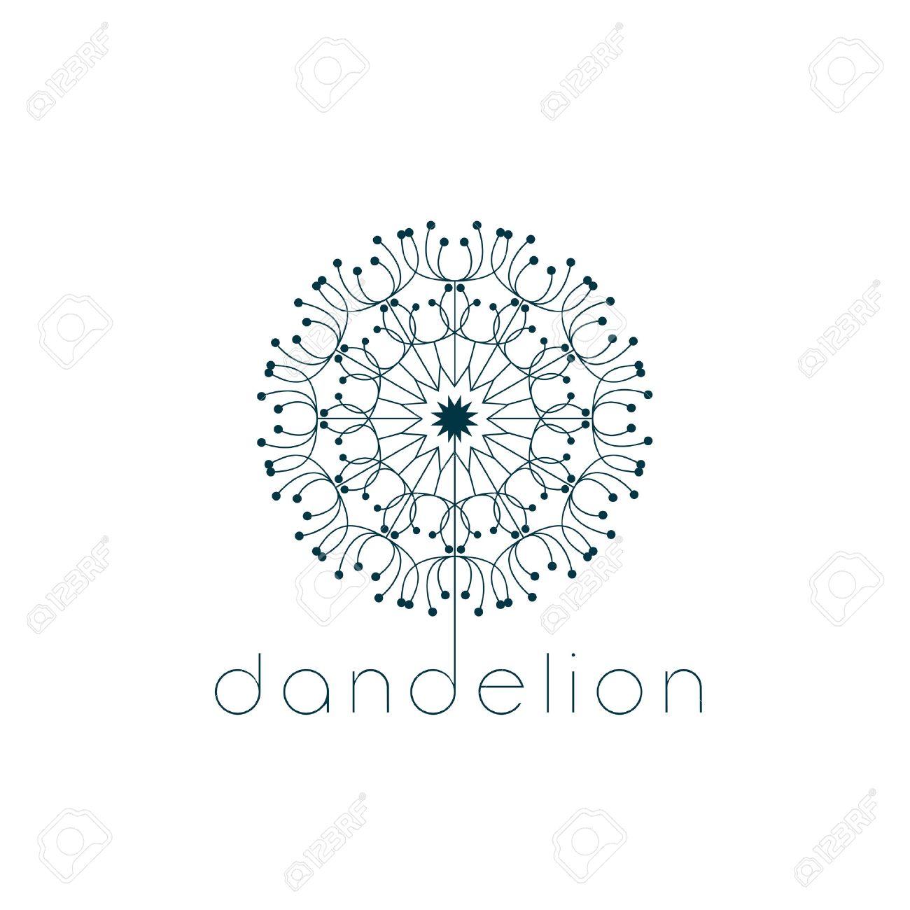 Dandelion Symbol Illustration Vector Design Royalty Free Cliparts
