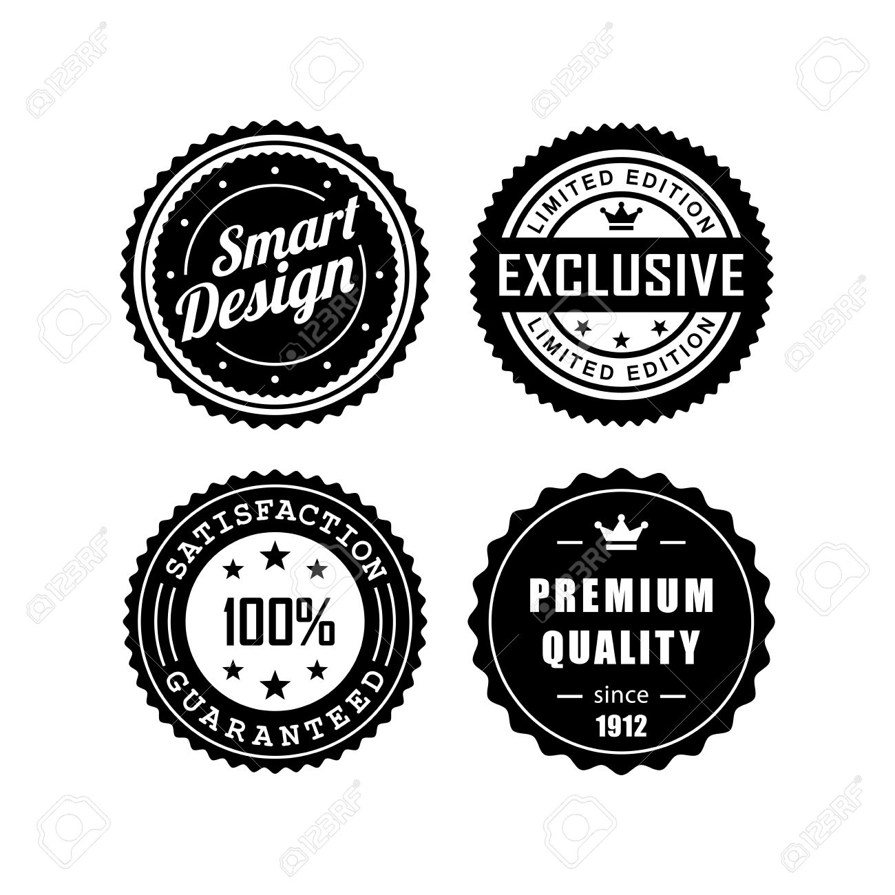 Vintage Badges Vector Design 3 Royalty Free Cliparts Vectors And