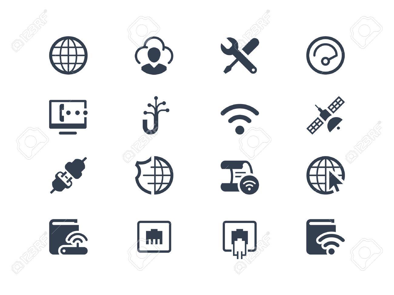 De Servicios De Internet Y Proveedores De Internet Iconos Conjunto ...
