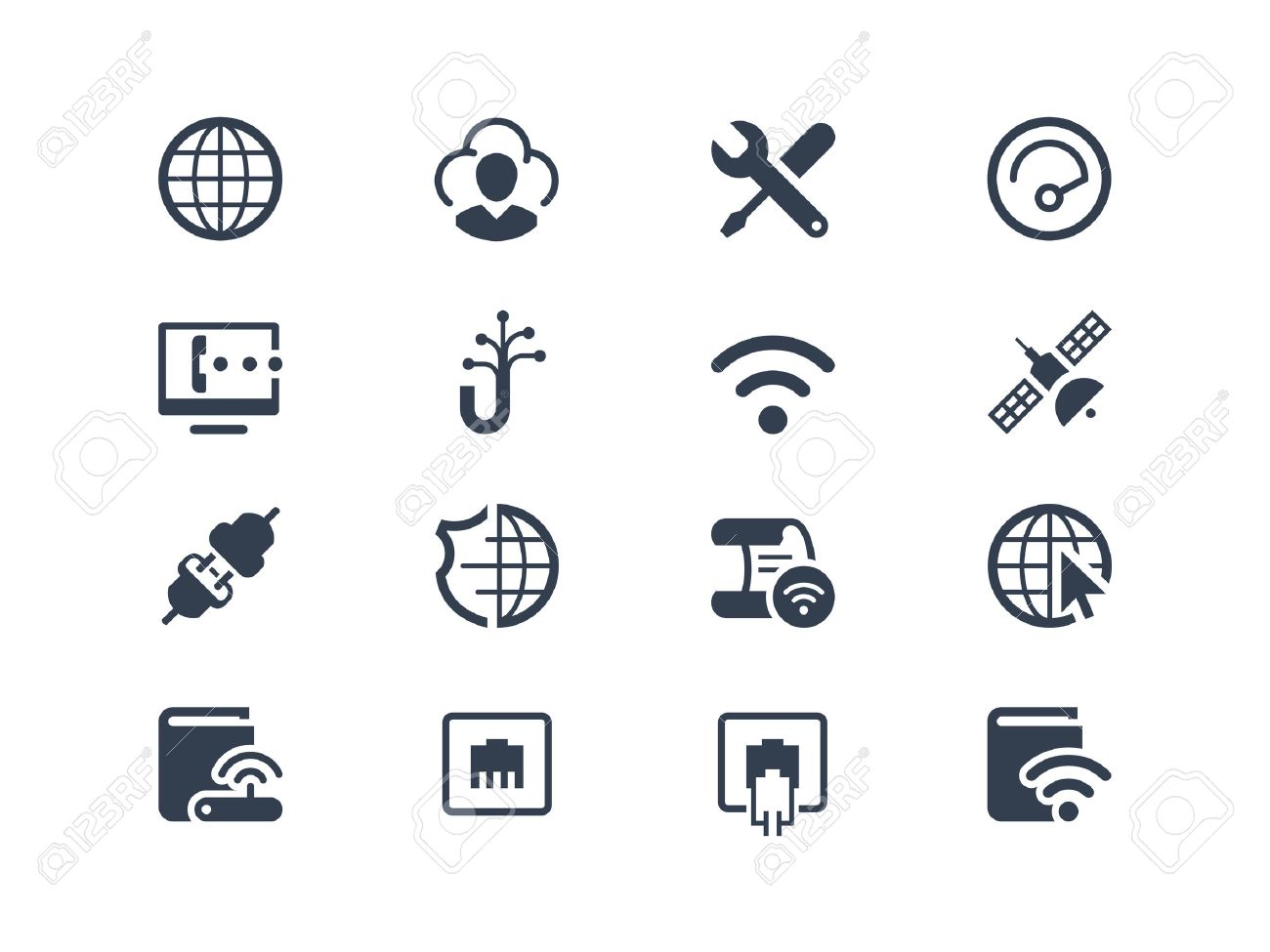 Internet Service And Internet Provider Icons Set Royalty Free Cliparts Vectors And Stock Illustration Image 34782267