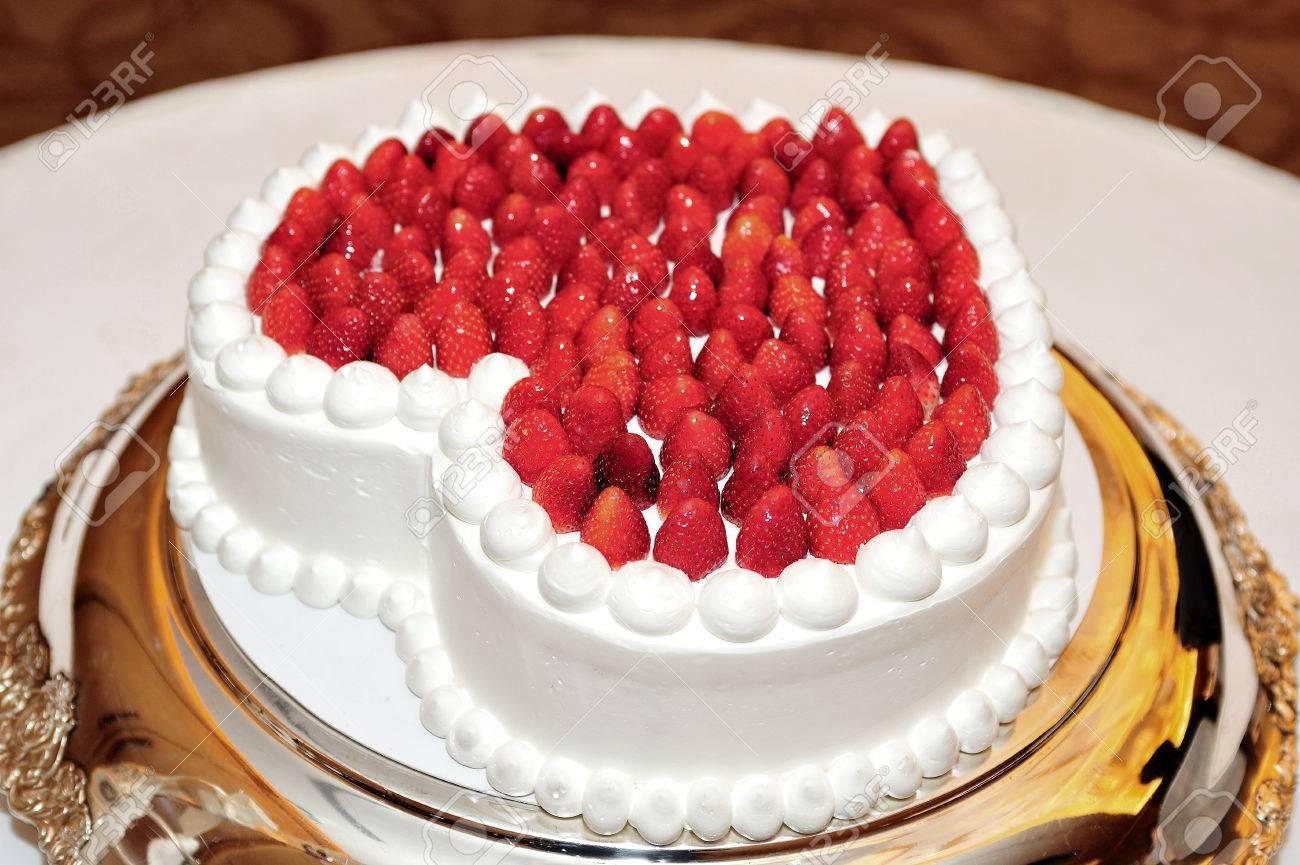 Gâteau De Mariage En Forme De Coeur Des étudiants Fraise Est Ko Tsu Sow Kansan