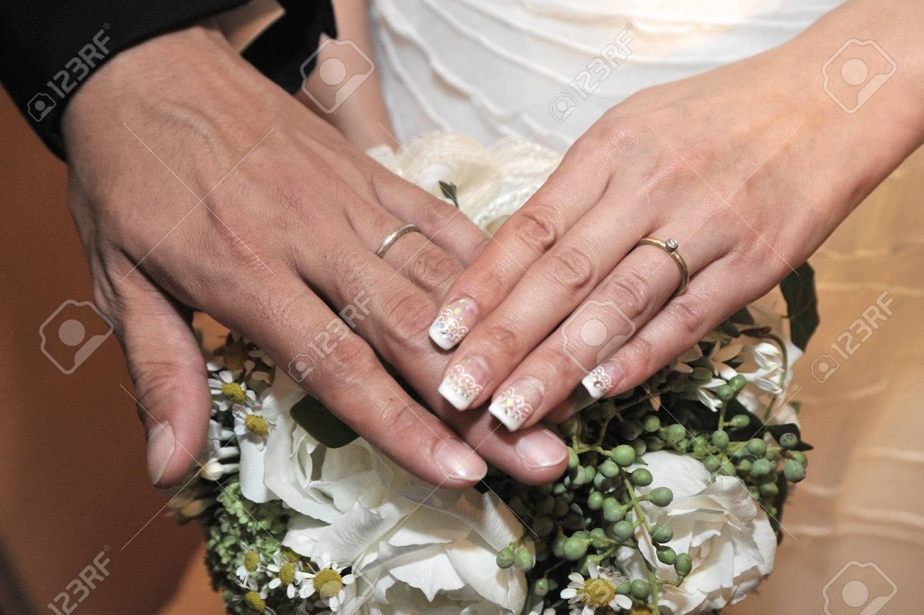 Nice Wedding Rings | Nice Wedding Ring Of The Bride And Groom Bridal Image Stock Photo