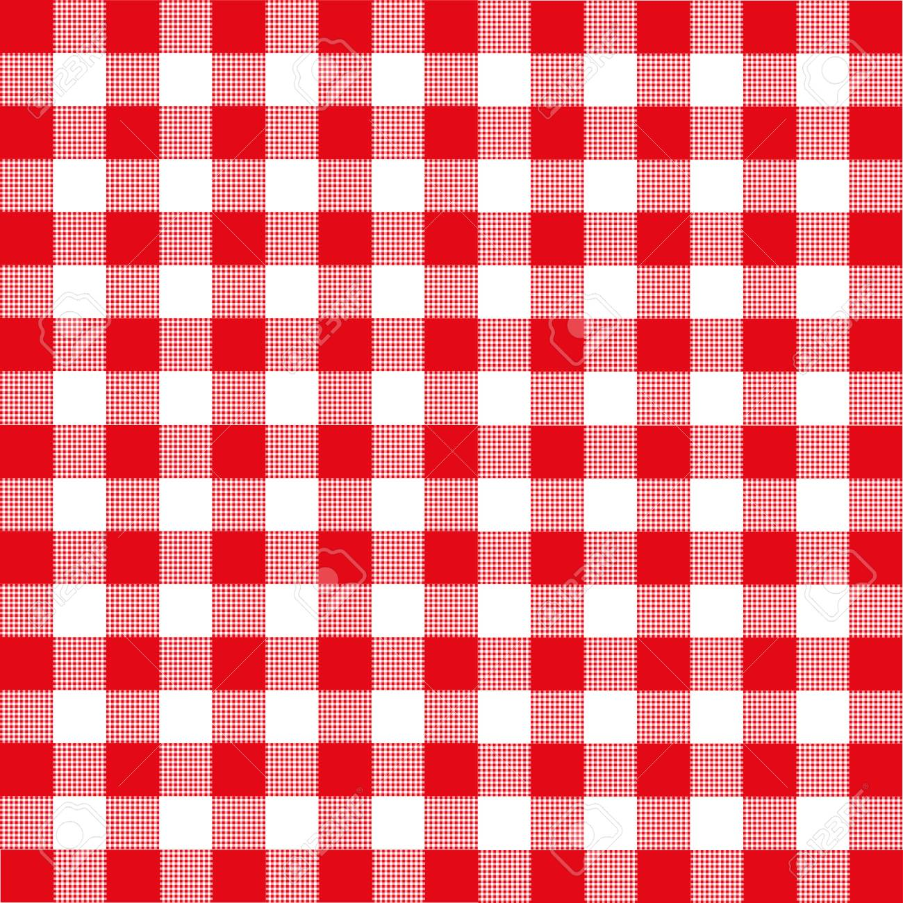 Genial Red And White Checkered Tablecloth