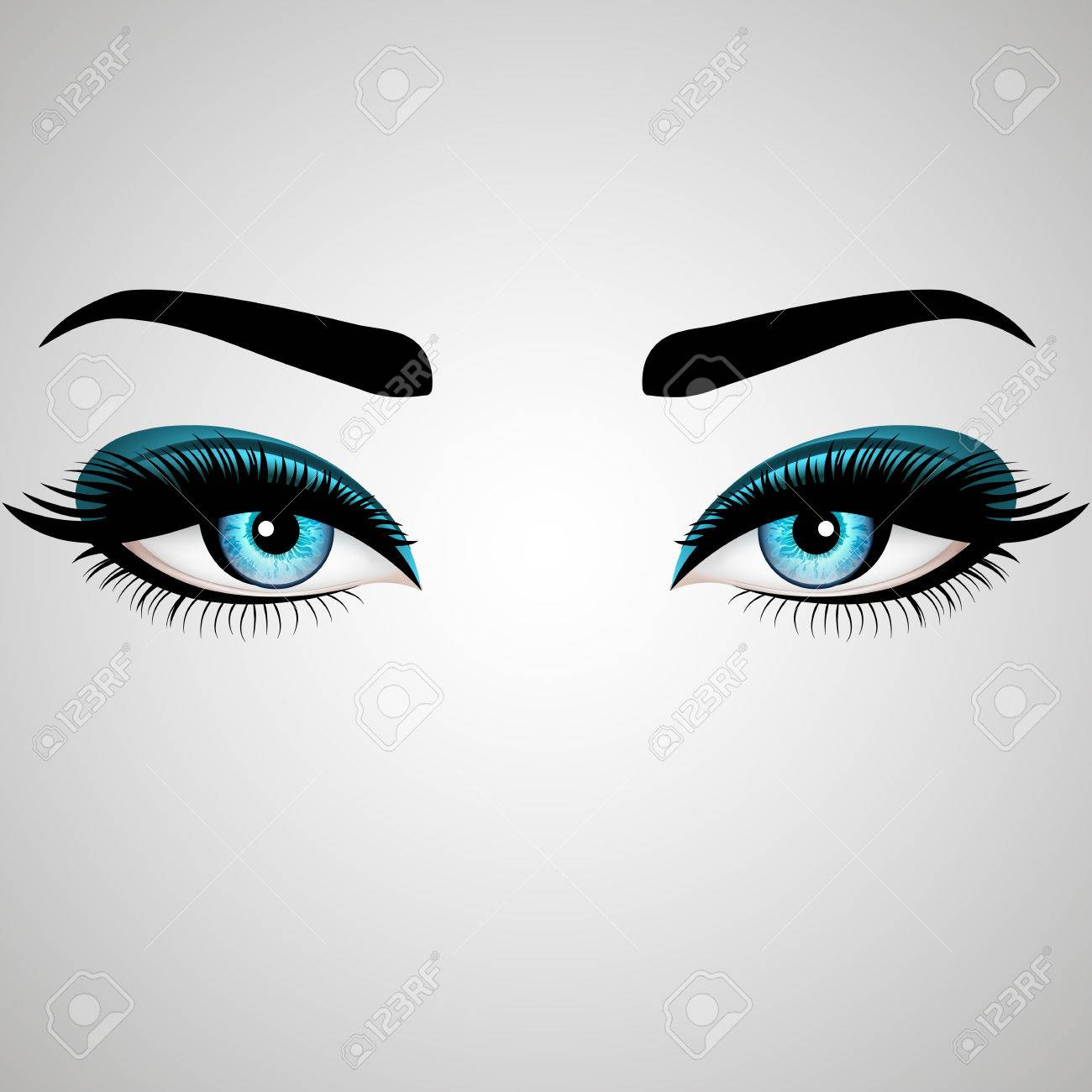 Beautiful Womans Eyes Vector Illustration Realistic Blue Eyes Royalty Free Cliparts Vectors And Stock Illustration Image 74556262