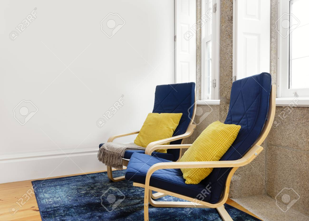 Lounge Chairs On A Bright Living Room