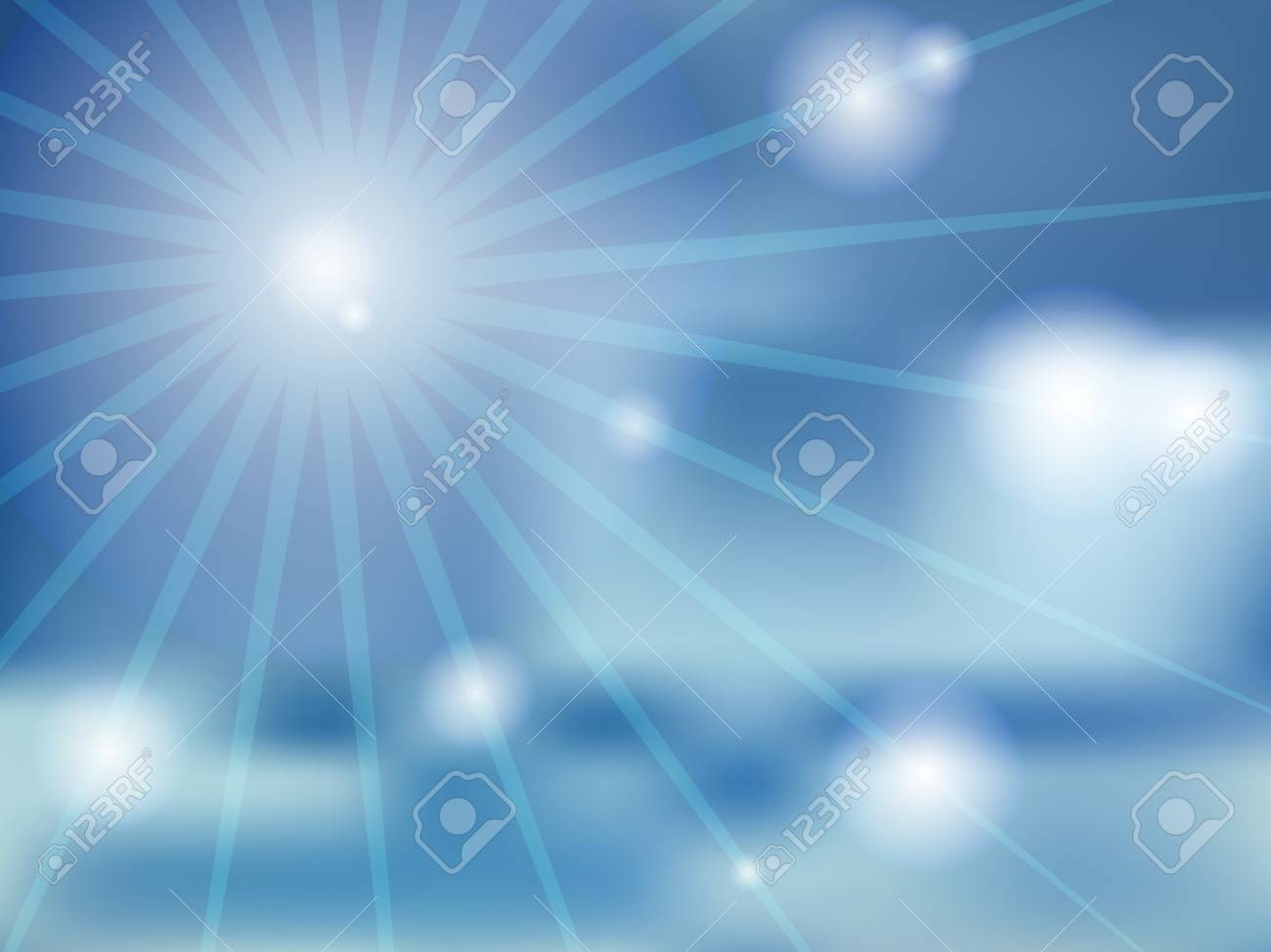Vector Abstract Blue Background Of Sunny Day Wallpaper Of Sky