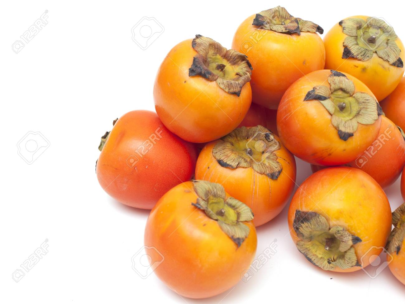 persimmons and empty space for your text Stock Photo - 14464977