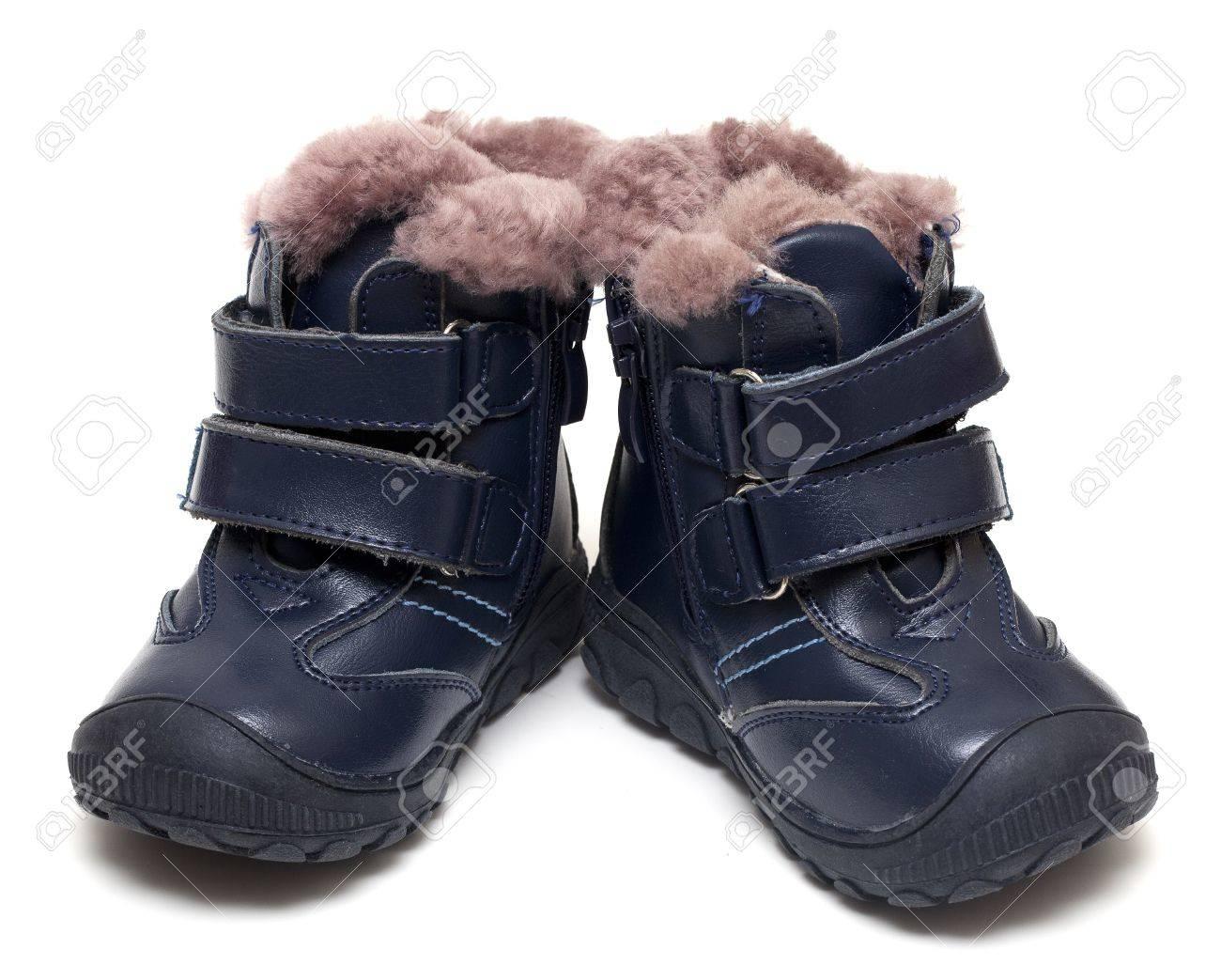 la meilleure attitude d0b32 30d92 Chaussures de bébé d'hiver isolé sur blanc