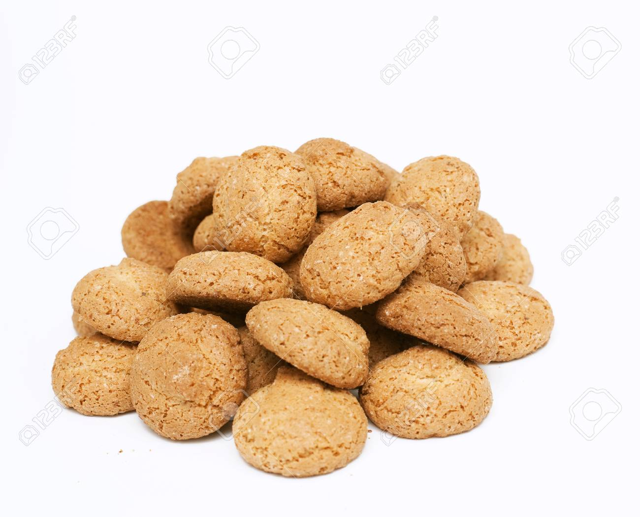 almond cookies isolated on white background Stock Photo - 14509234