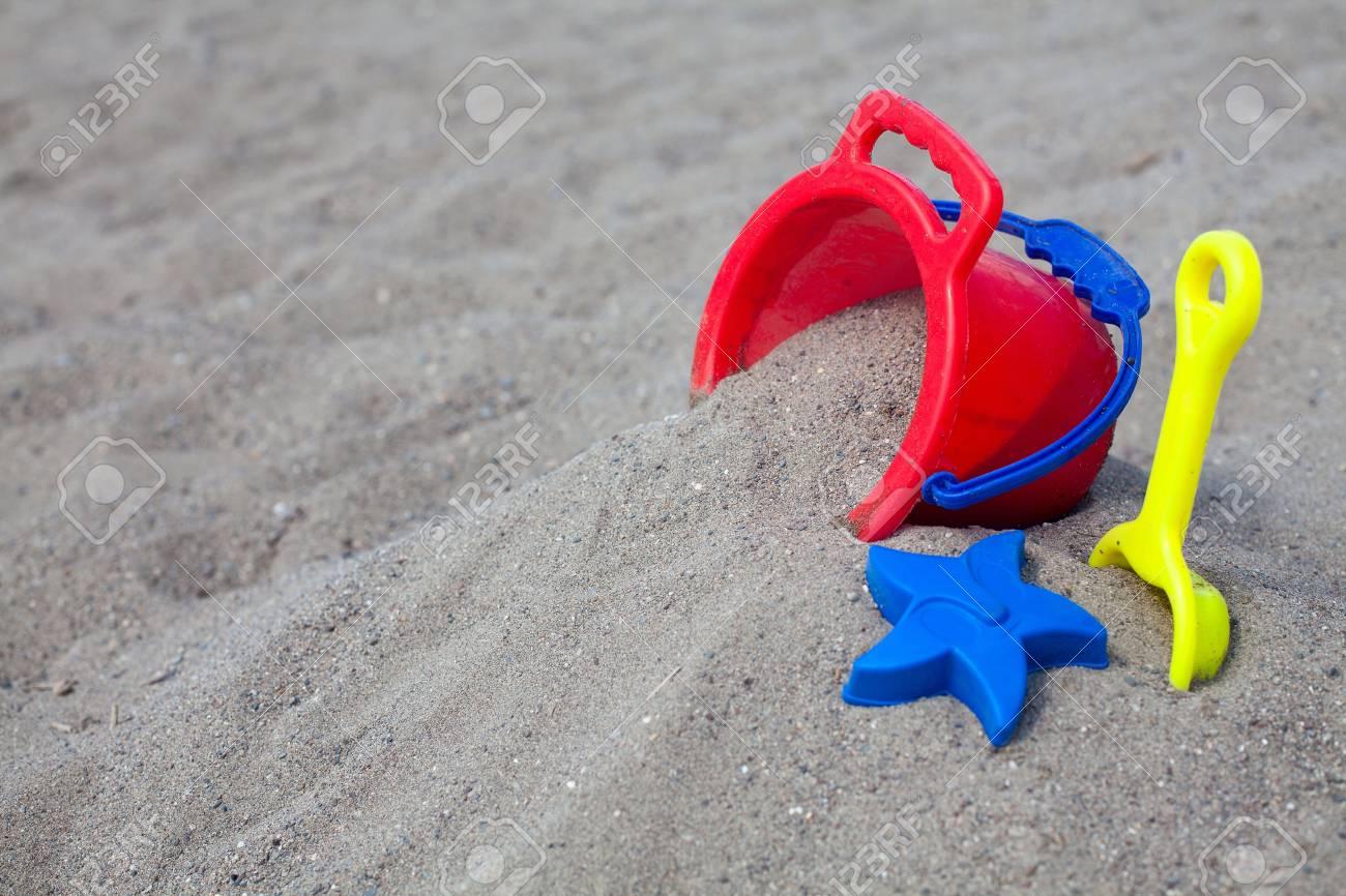 beach toys on sand Stock Photo - 15523948