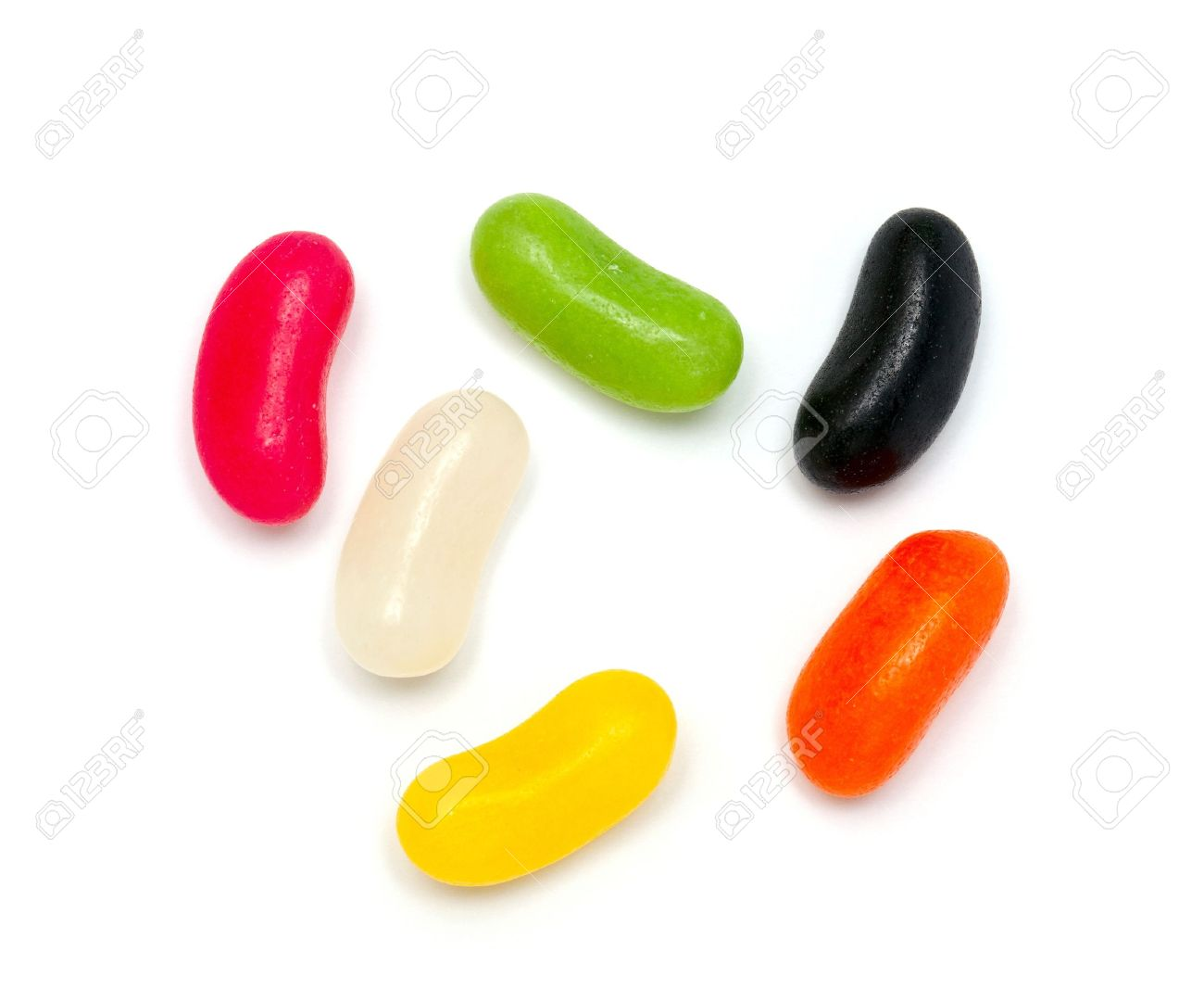 7eed4a08 Jelly Bean Candies Over White Stock Photo, Picture And Royalty Free ...
