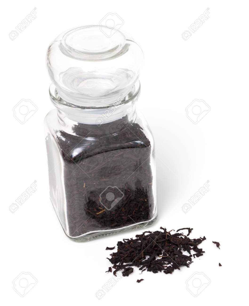 black tea in a glass jar Stock Photo - 16536747