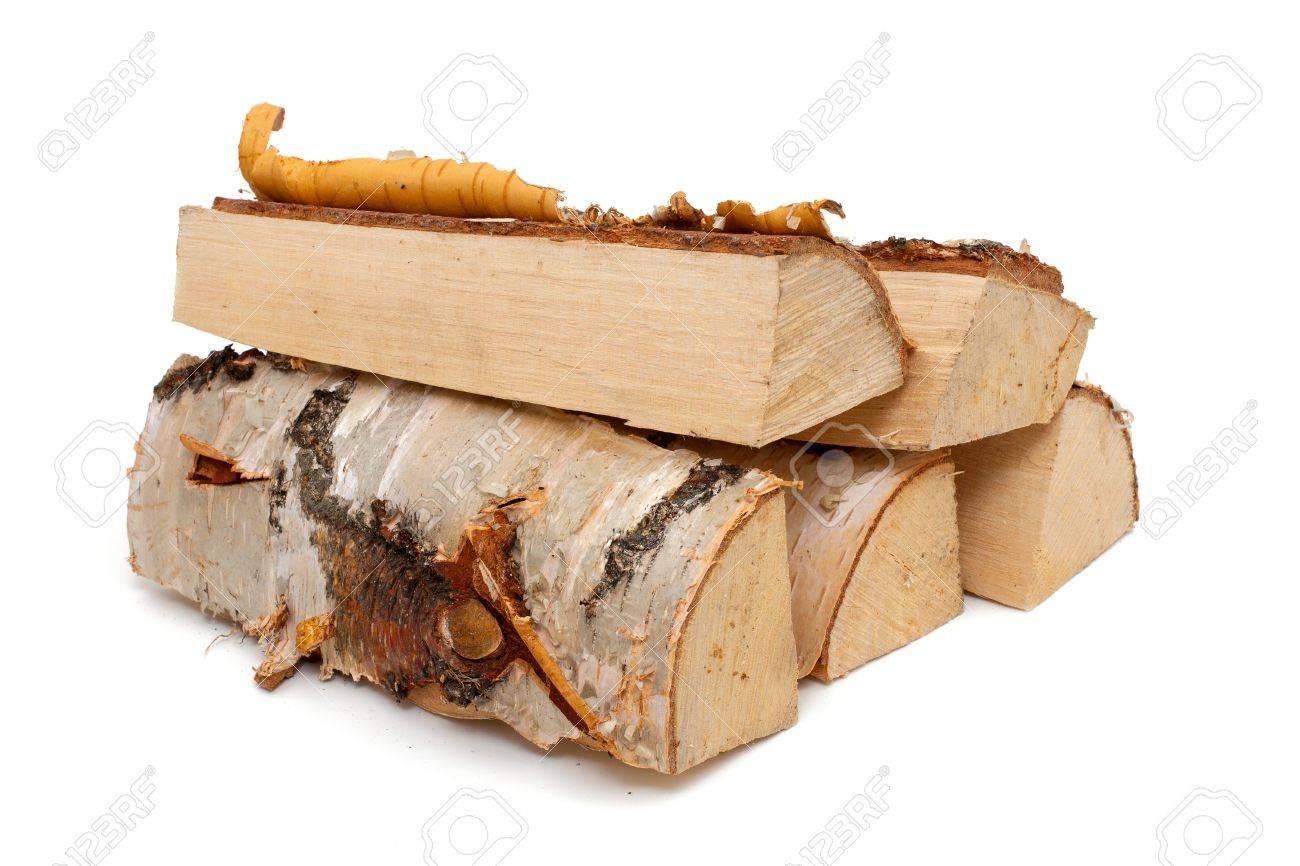 fire wood made from birch Standard-Bild - 20986369