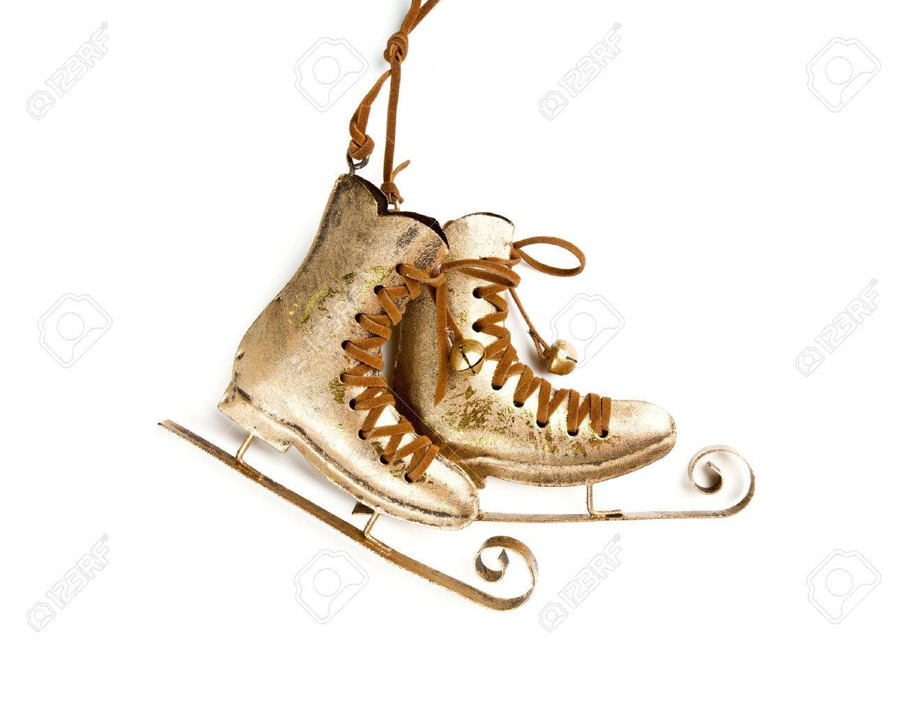 Ice Skates With Christmas Decoration Stock Photo, Picture And ...