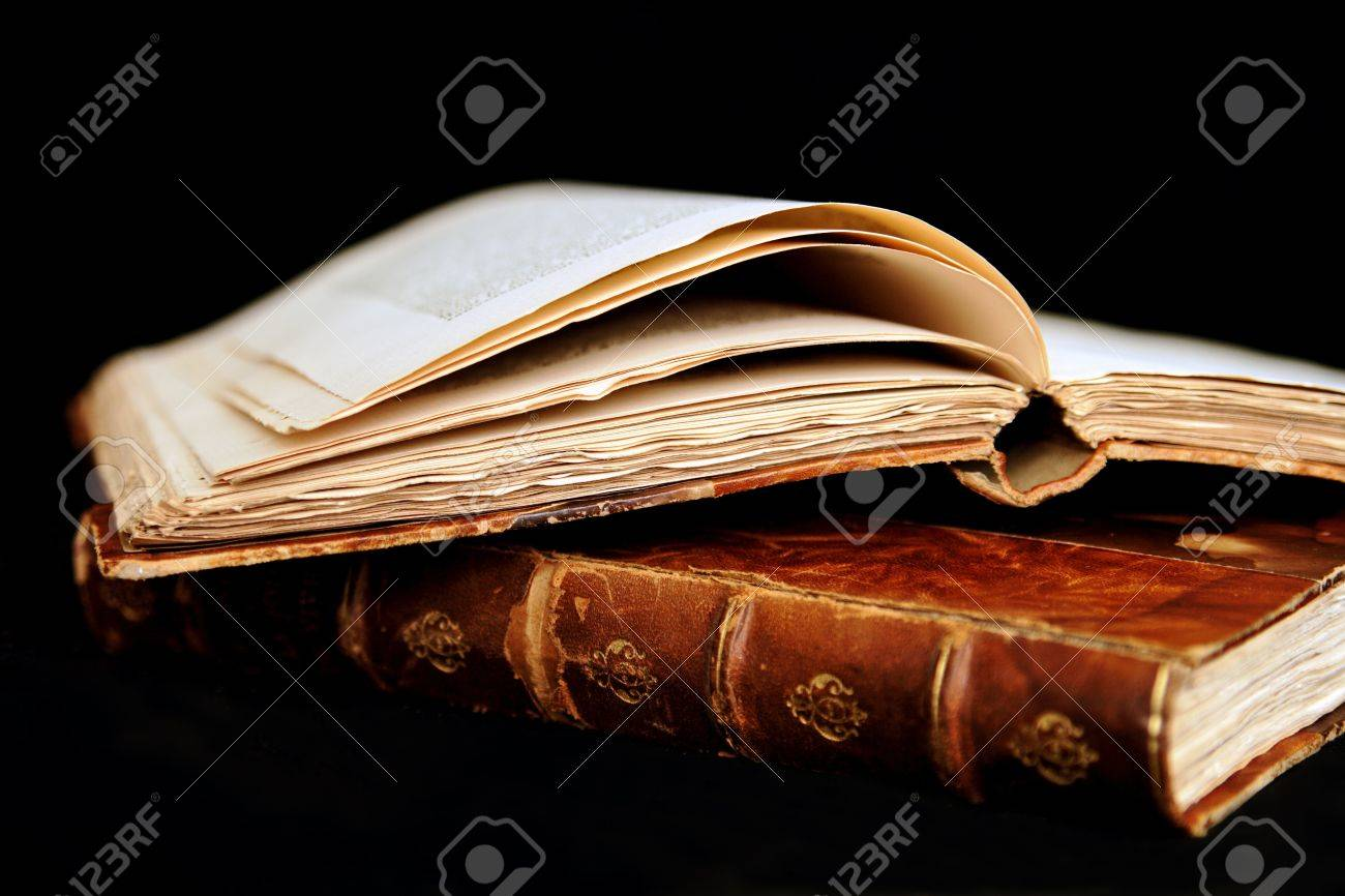 Once upon a time - Ancient Books (in bad condition) Stock Photo - 8677304